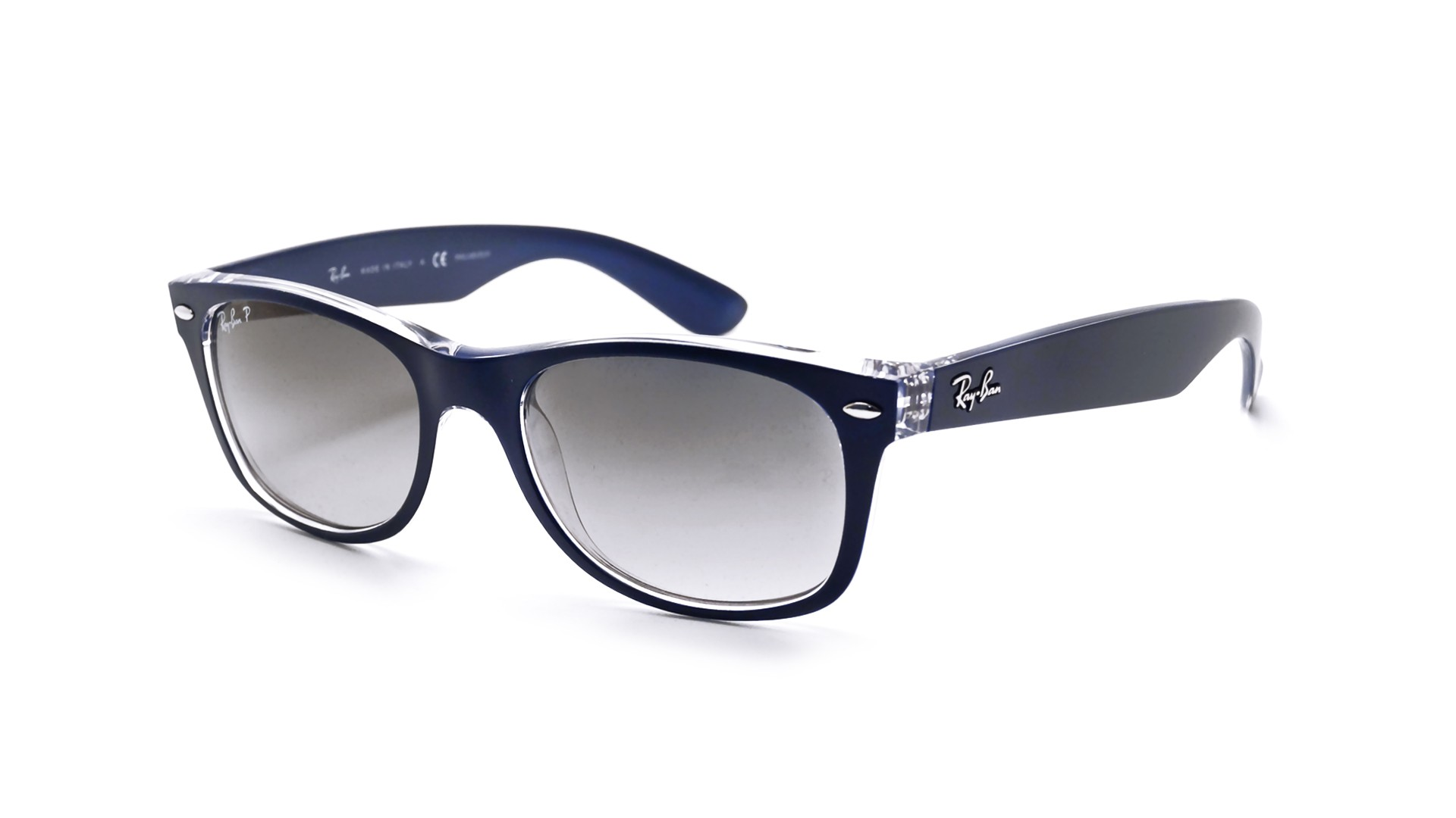 Sunglasses Ray-Ban New Wayfarer Blue RB2132 6053 M3 55-18 Large Polarized  Gradient 64c5878a662c