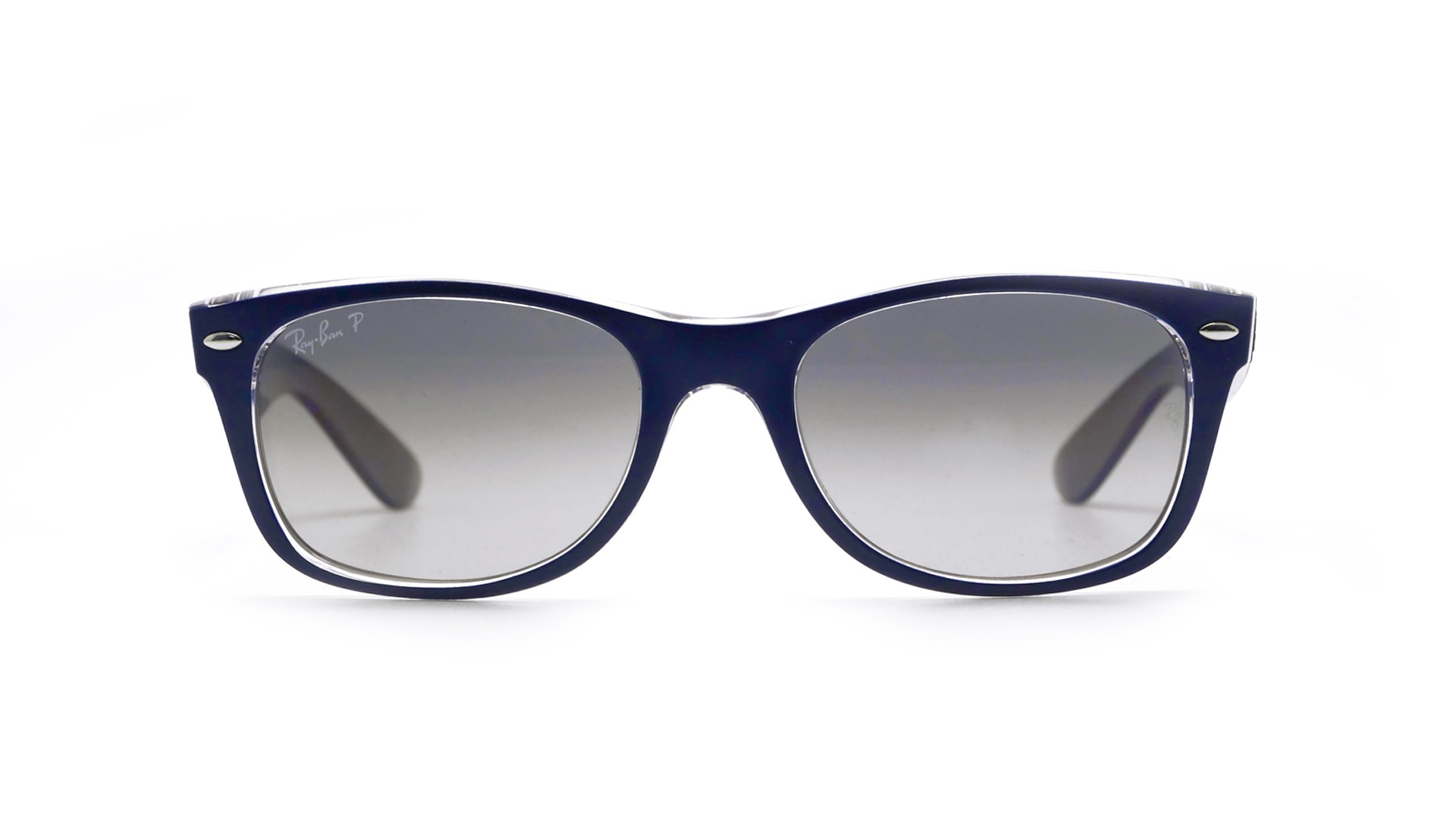 03360a6ba0e Sunglasses Ray-Ban New Wayfarer Blue RB2132 6053 M3 55-18 Large Polarized  Gradient