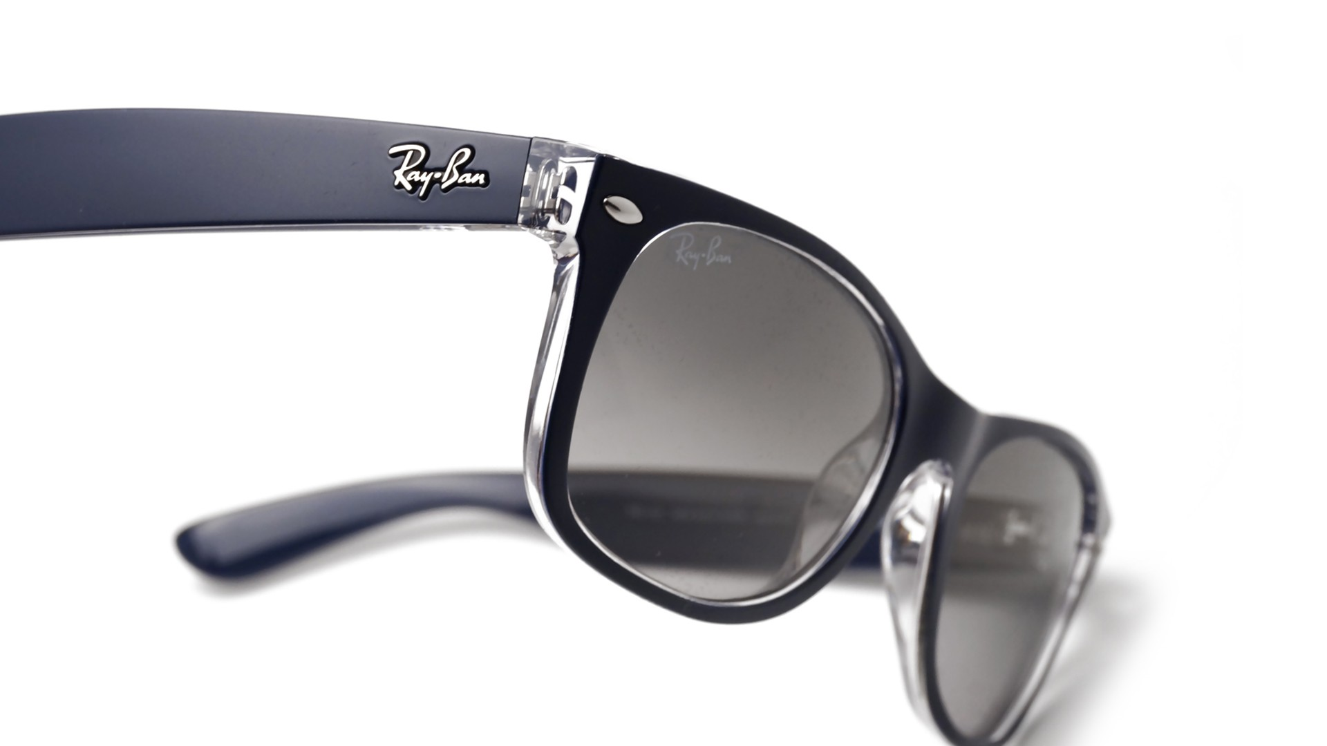 6217a6ed4a Sunglasses Ray-Ban New Wayfarer Blue RB2132 6053 71 55-18 Medium Gradient