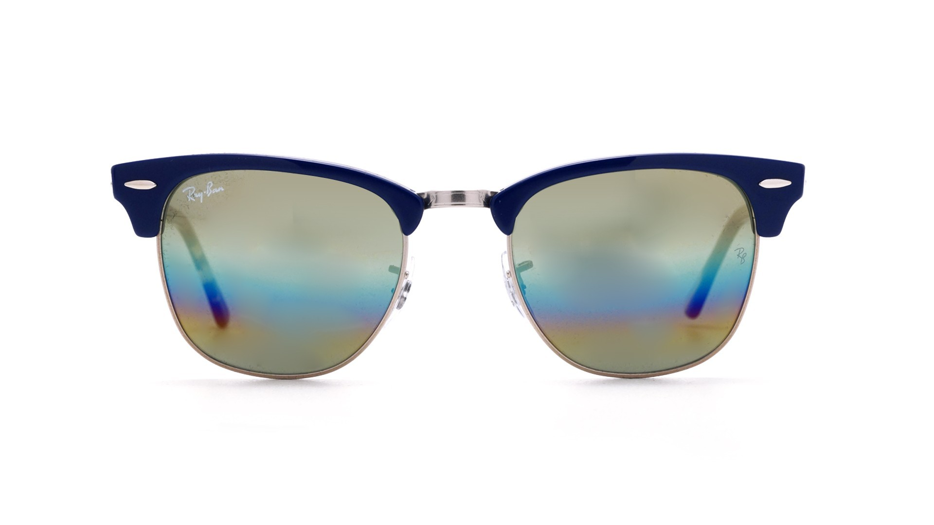 65f1d63c7c3 Sunglasses Ray-Ban Clubmaster Blue RB3016 1223C4 49-21 Small Gradient Mirror
