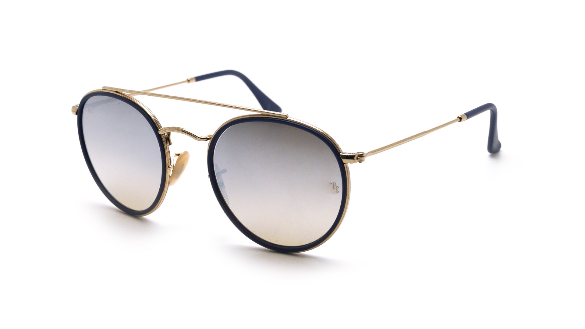 Sunglasses Ray-Ban Round Double Bridge Gold RB3647N 001 9U 51-22 Medium  Gradient Mirror 2873f086ef