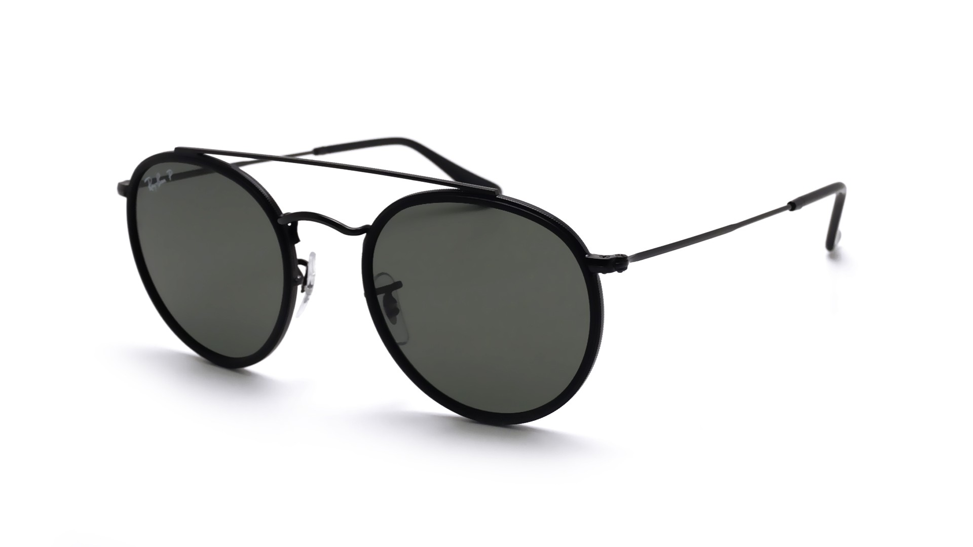 8e8e4c1ba79 Sunglasses Ray-Ban Round Double Bridge Black RB3647N 002 58 51-22 Medium  Polarized