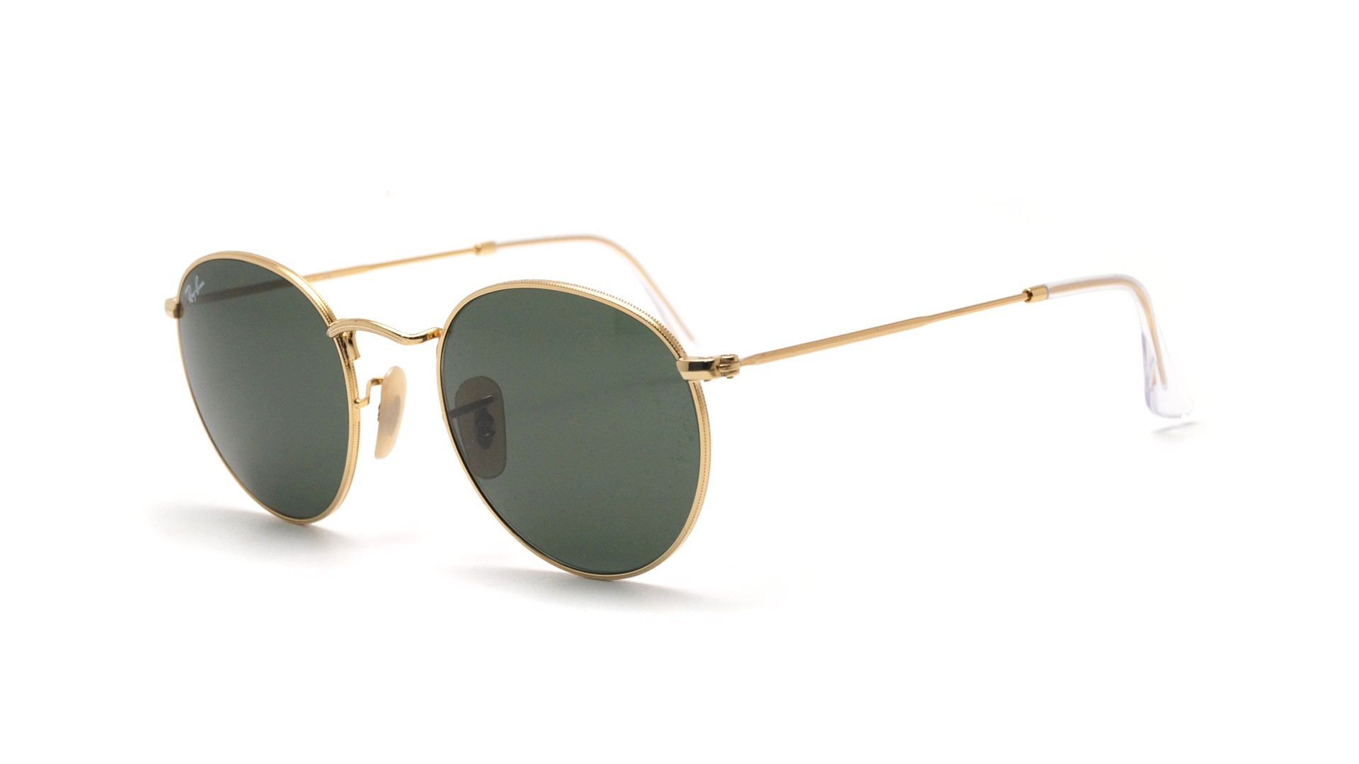 57bf388219108 Sunglasses Ray-Ban Round Metal Gold G-15 RB3447 001 53-21 Large