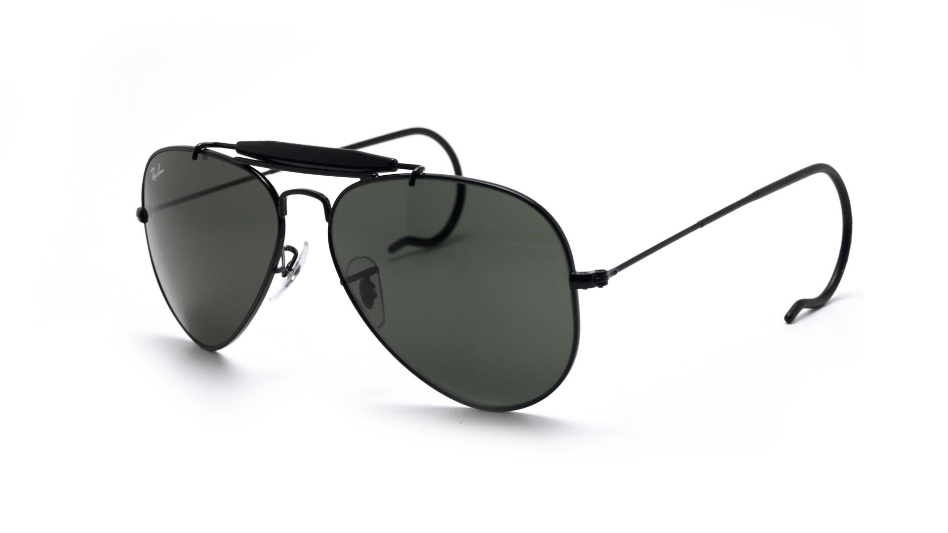b0c5d0cef5 Sunglasses Ray-Ban Outdoorsman Black G-15 RB3030 L9500 58-14 Large