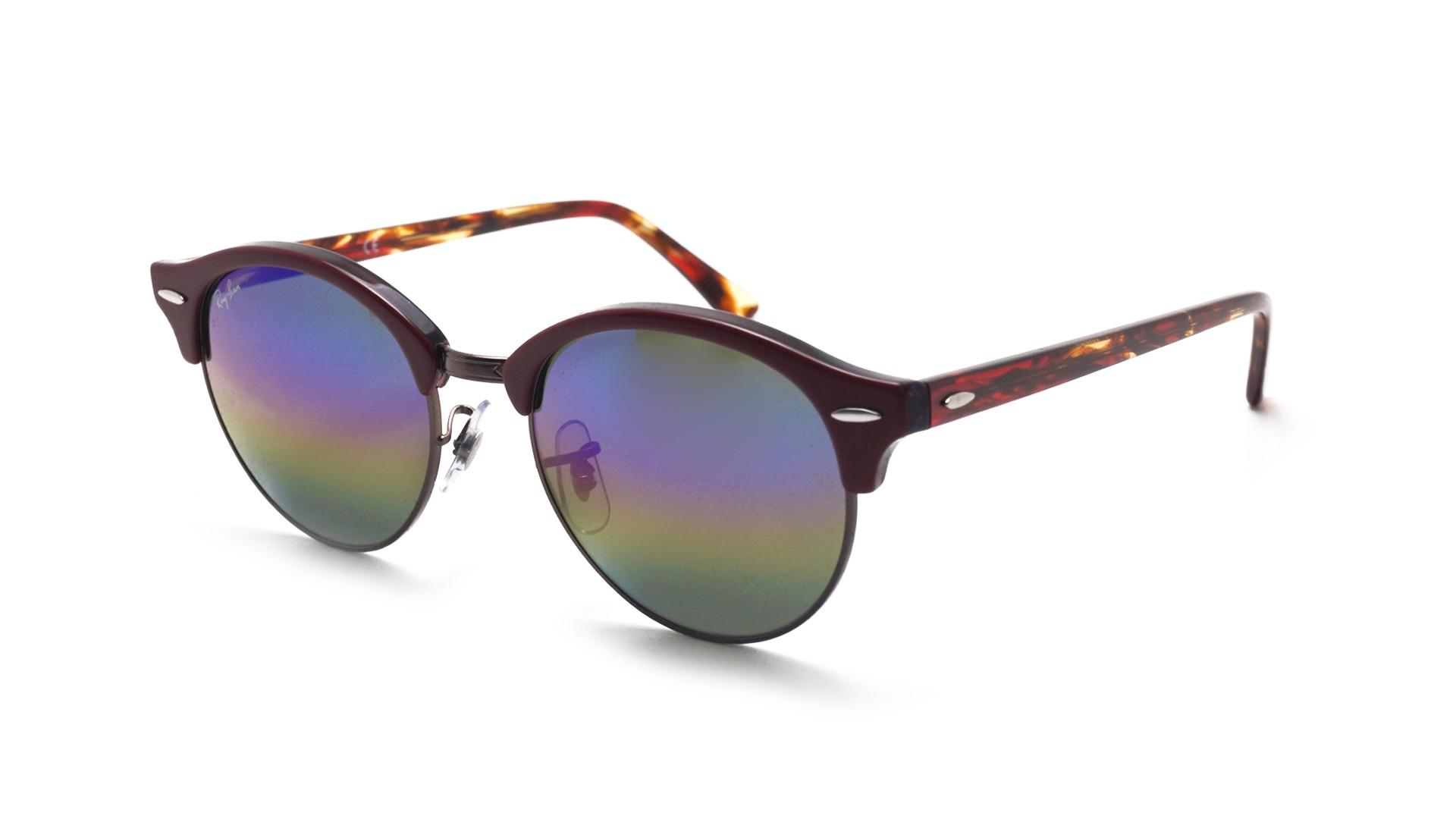 809590b69d Sunglasses Ray-Ban Clubround Purple RB4246 1221C3 51-19 Medium Gradient  Mirror