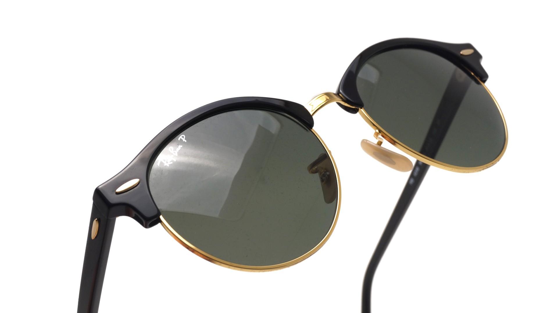 cfb2eb1015 Sunglasses Ray-Ban Clubround Black RB4246 901 58 51-19 Medium Polarized