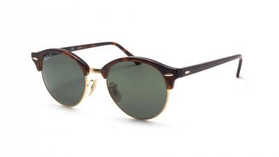d84fb616fd Sunglasses Ray-Ban Clubround Tortoise RB4246 990 58 51-19 Medium Polarized