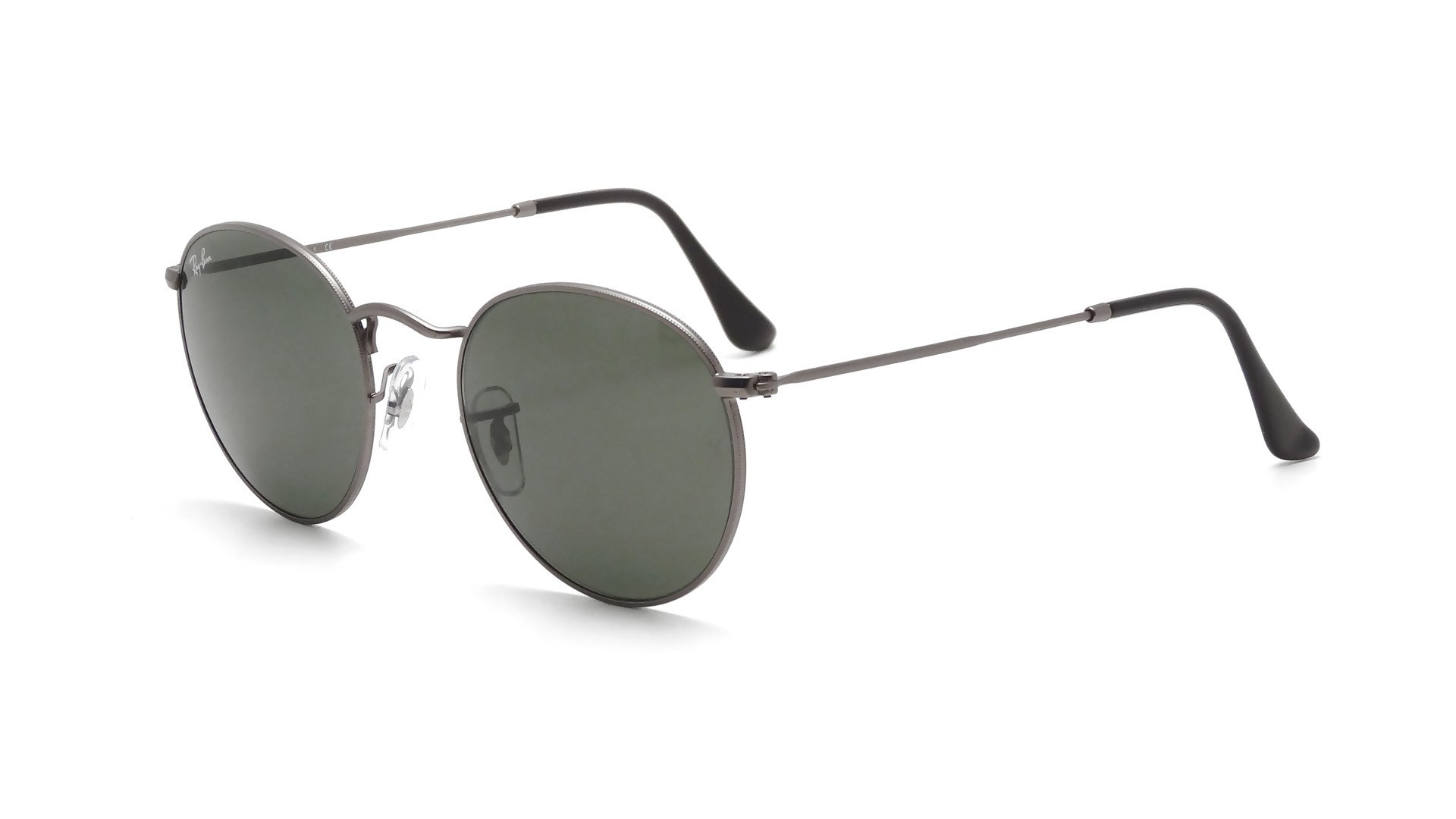 fada22f64f Sunglasses Ray-Ban Round Metal Grey Matte G-15 RB3447 029 53-21 Large