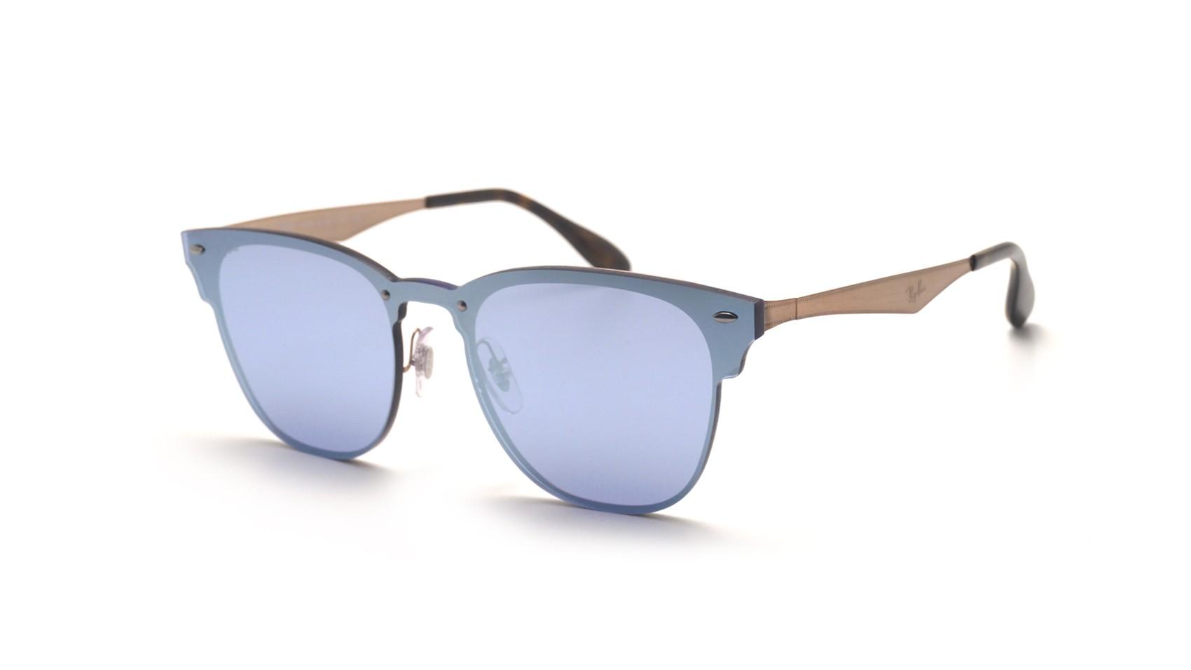 6228cf5374f89 Sunglasses Ray-Ban Clubmaster Blaze Silver RB3576N 90391U Medium Mirror