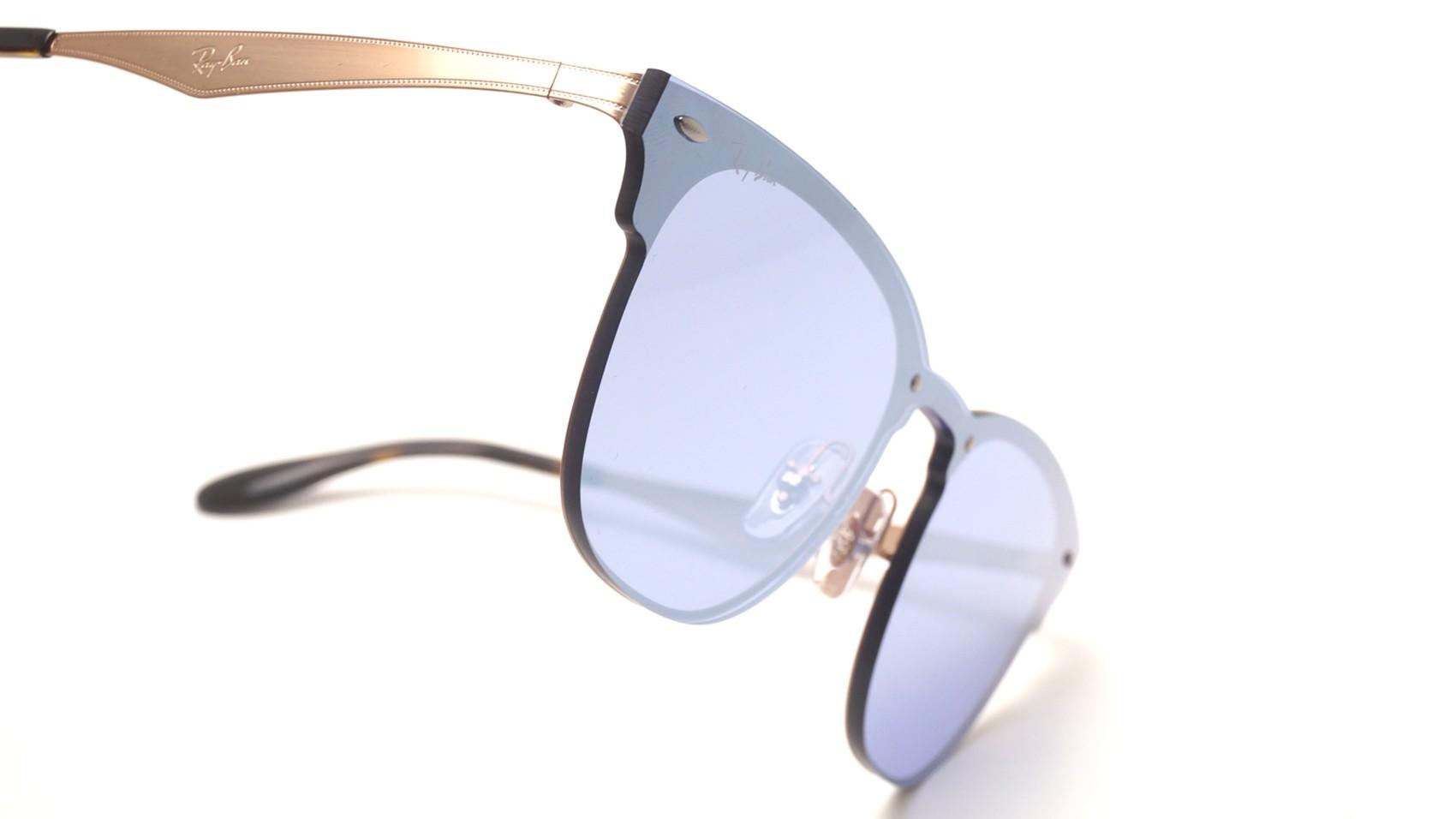 8b6a84e38b Sunglasses Ray-Ban Clubmaster Blaze Silver RB3576N 90391U Medium Mirror