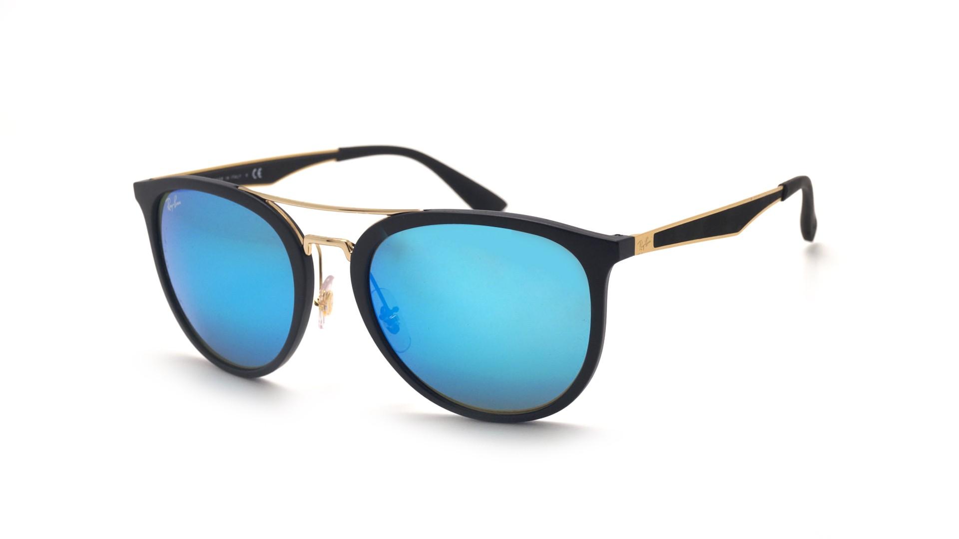 c36ddd6769 Sunglasses Ray-Ban RB4285 601S55 55-20 Black Matte Large Mirror
