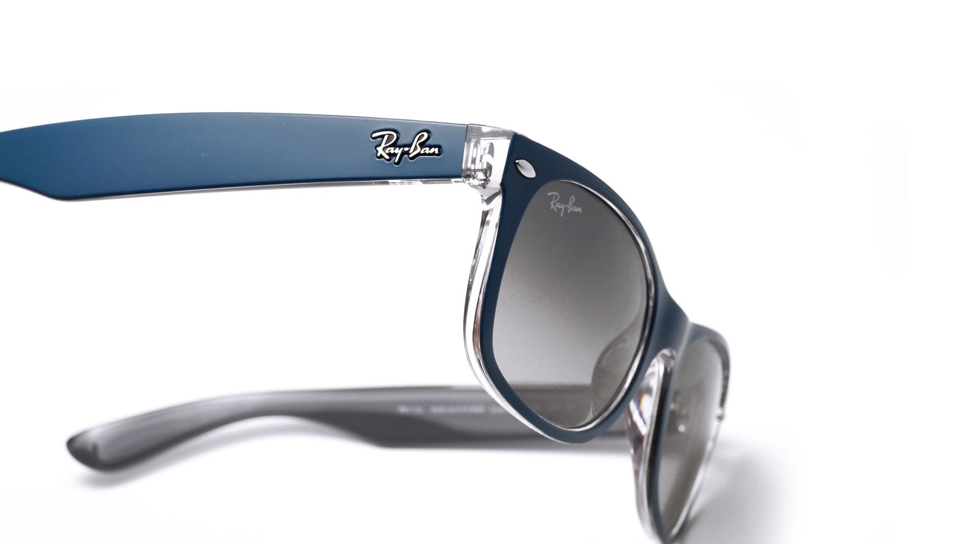 8a19cf68ecf Sunglasses Ray-Ban New Wayfarer Blue Matte RB2132 619171 55-18 Large  Gradient
