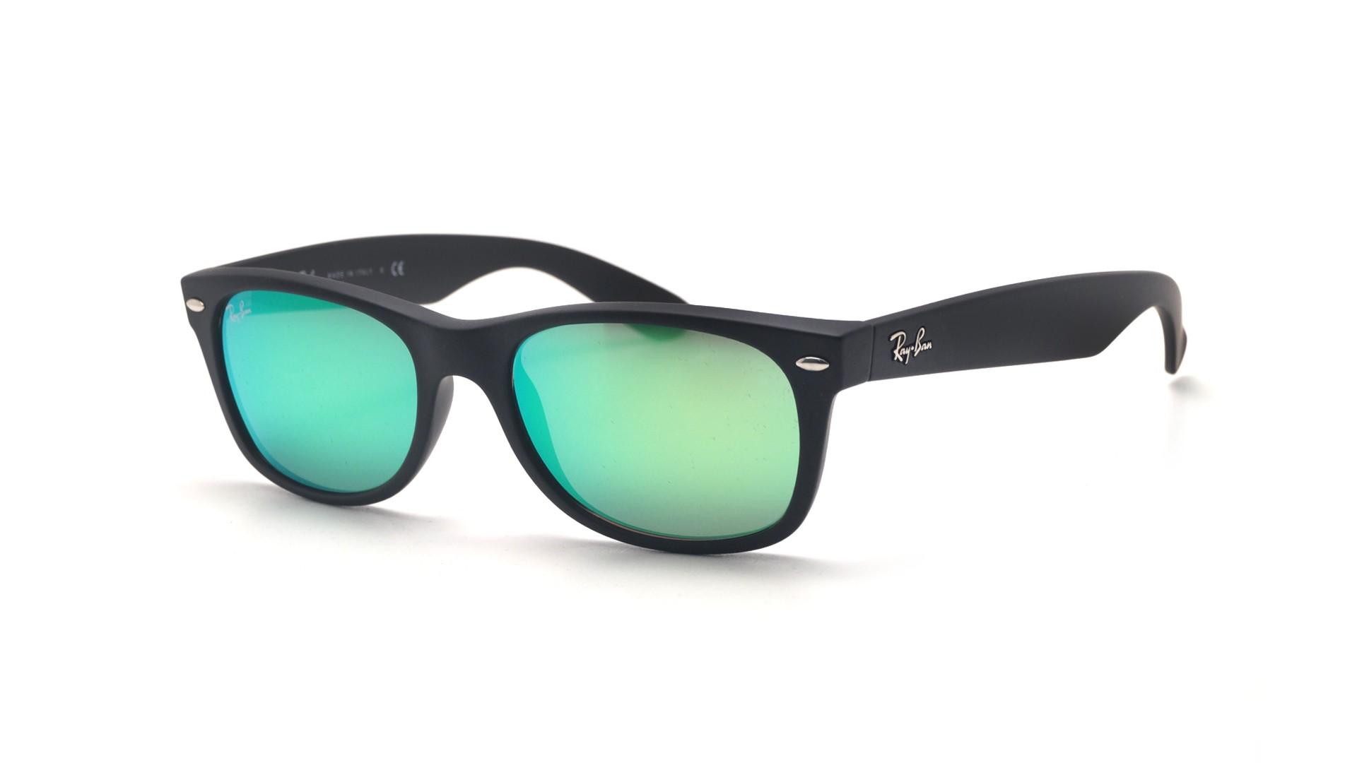 076d2305da420 Sunglasses Ray-Ban New Wayfarer Black Matte RB2132 622 19 52-18 Small Mirror