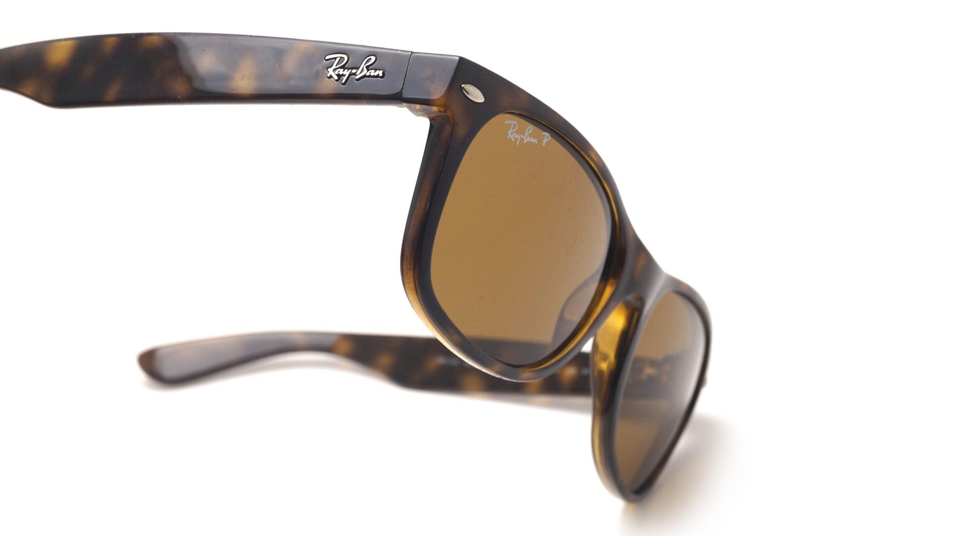 8d6bebc1aa141 Sunglasses Ray-Ban New Wayfarer Tortoise RB2132 902 57 55-18 Large Polarized