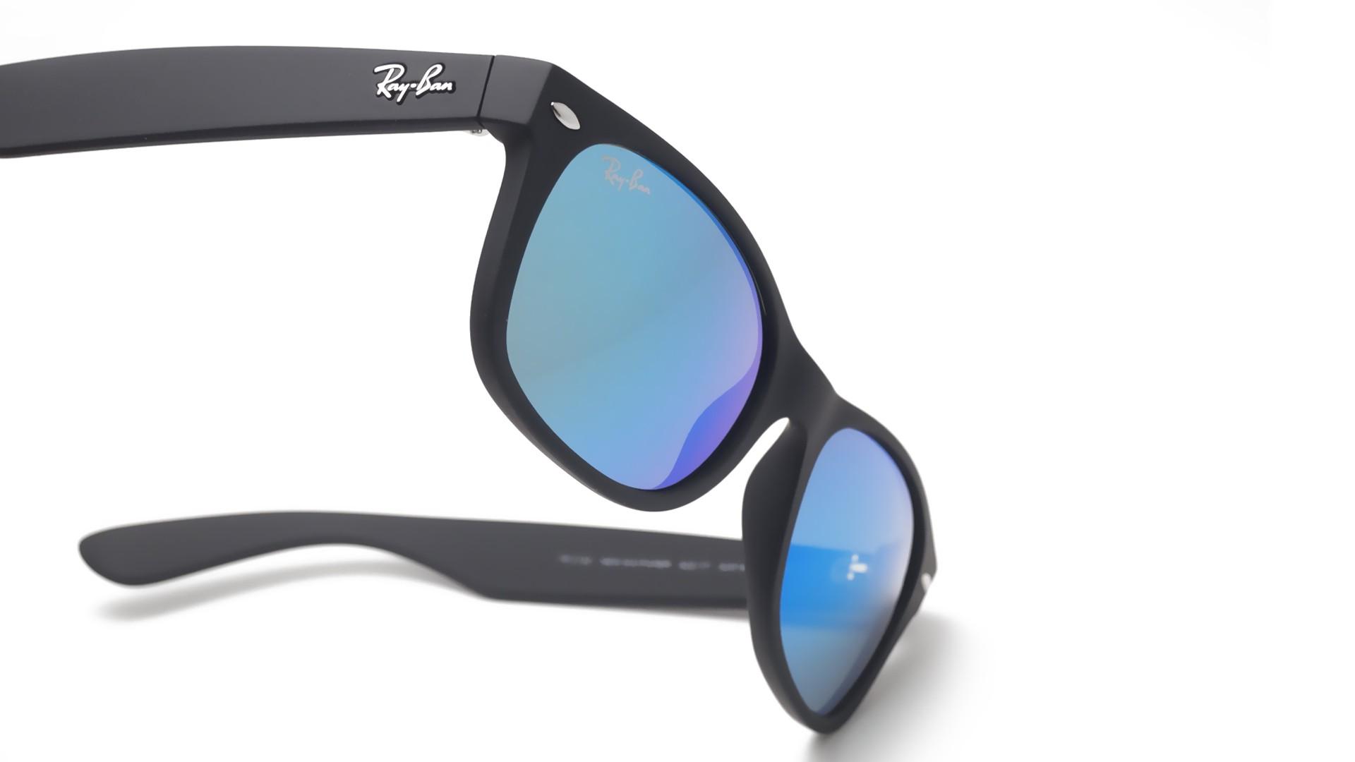 c9656a741c Sunglasses Ray-Ban New Wayfarer Black Matte RB2132 622 17 52-18 Small Mirror