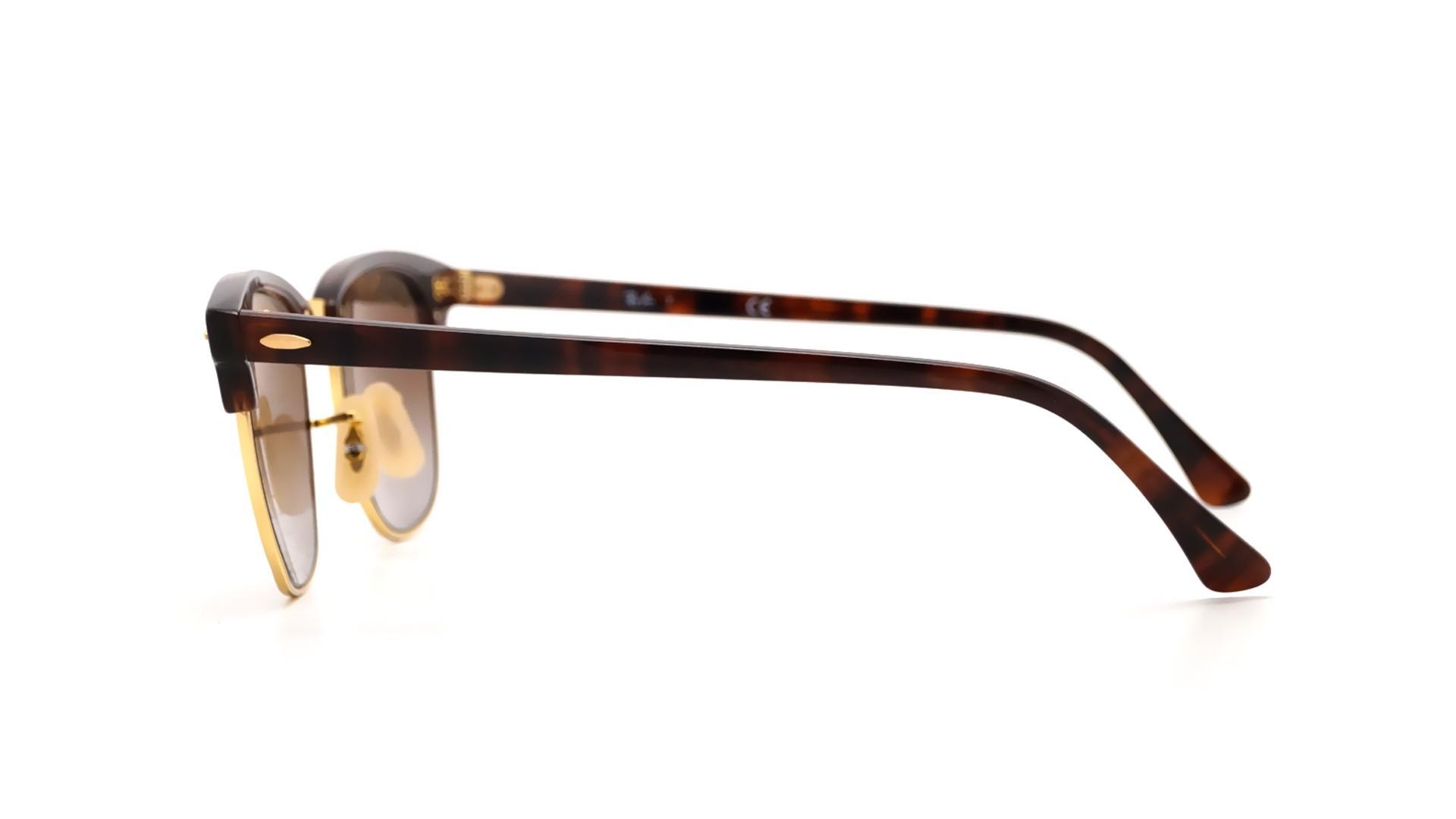 e9e649ab7a Sunglasses Ray-Ban Clubmaster Tortoise RB3016 990 9J 51-21 Medium Gradient  Mirror