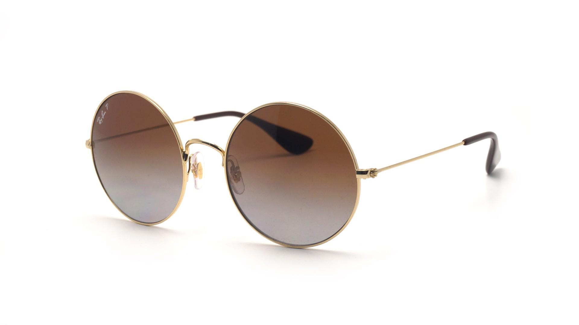 73ae1cb54a Sunglasses Ray-Ban Ja-jo Gold RB3592 001 T5 55-20 Large Polarized Gradient