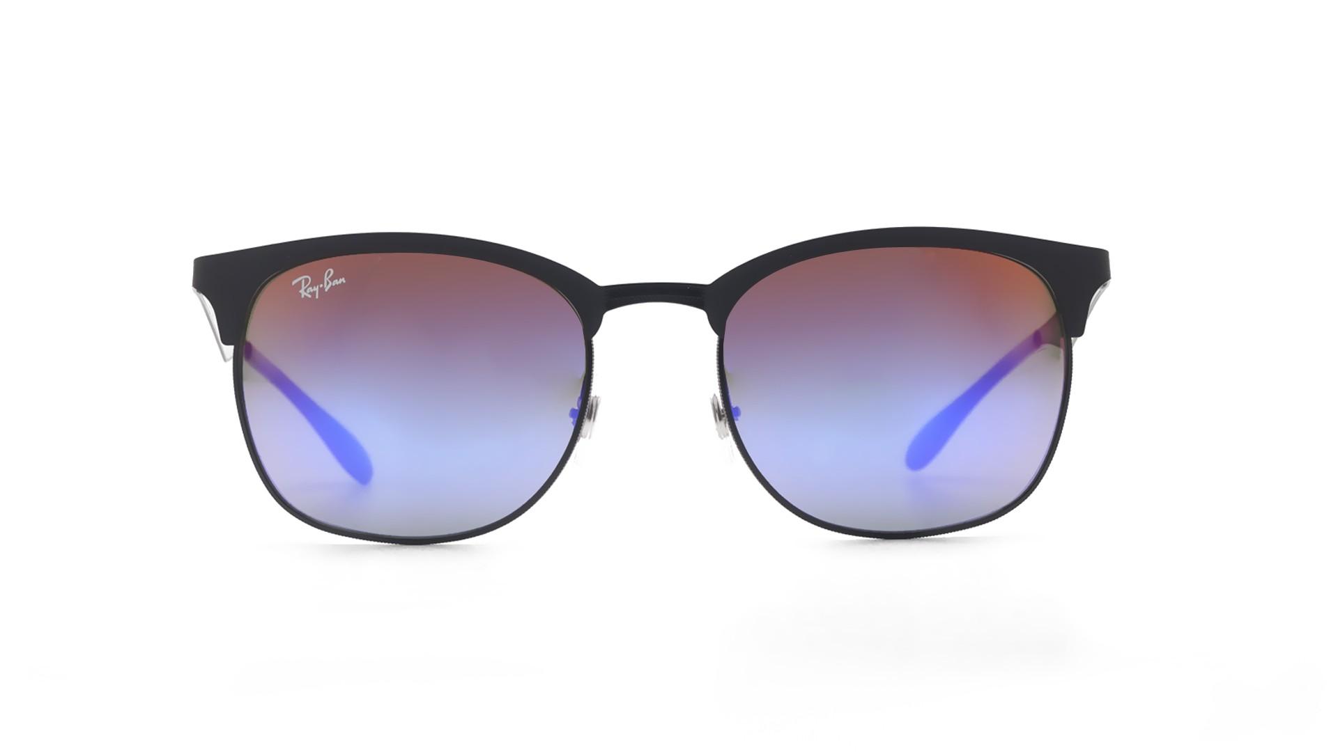 213daf1330 Sunglasses Ray-Ban RB3538 186 B1 53-19 Black Matte Medium Gradient Mirror