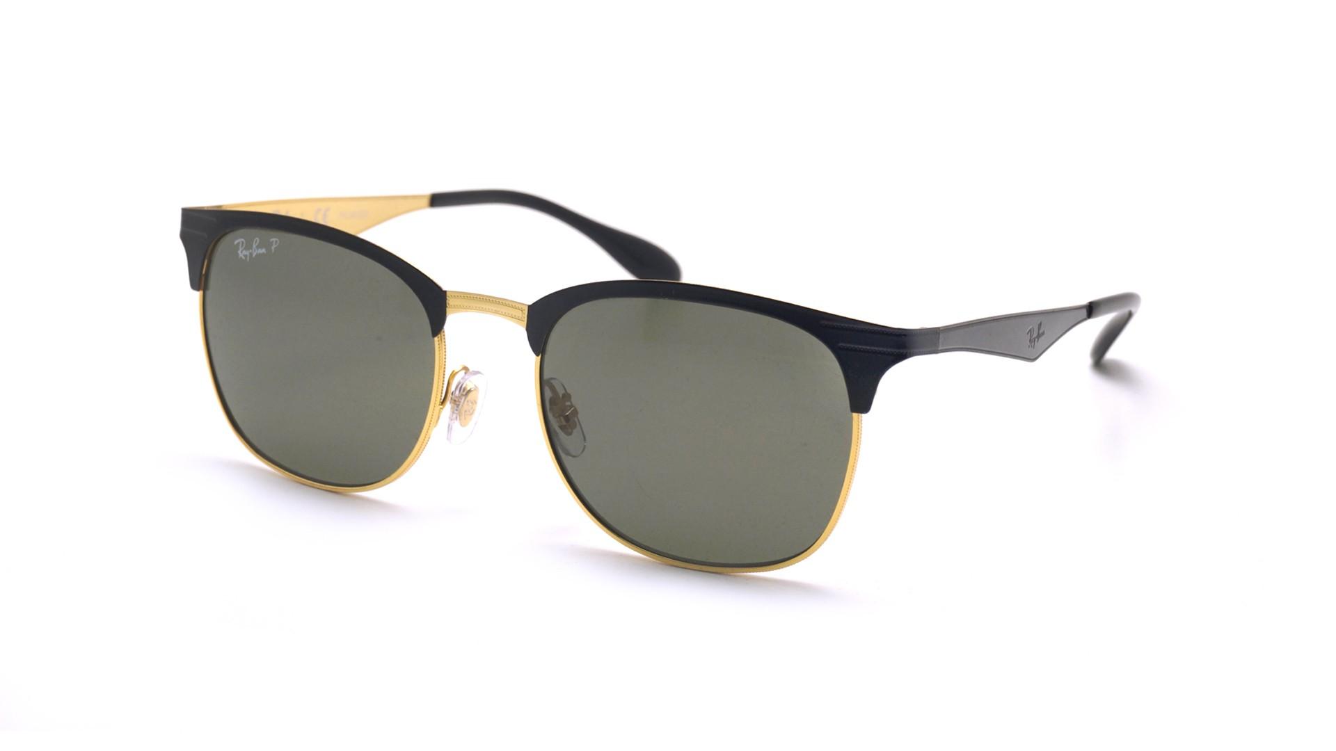 2eba7cf49 Sunglasses Ray-Ban RB3538 187/9A 53-19 Black Medium Polarized