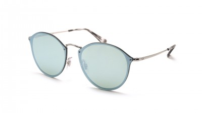 41a9e131d Sunglasses Ray-Ban Round Blaze Silver RB3574N 003/30 59-14 Large Mirror