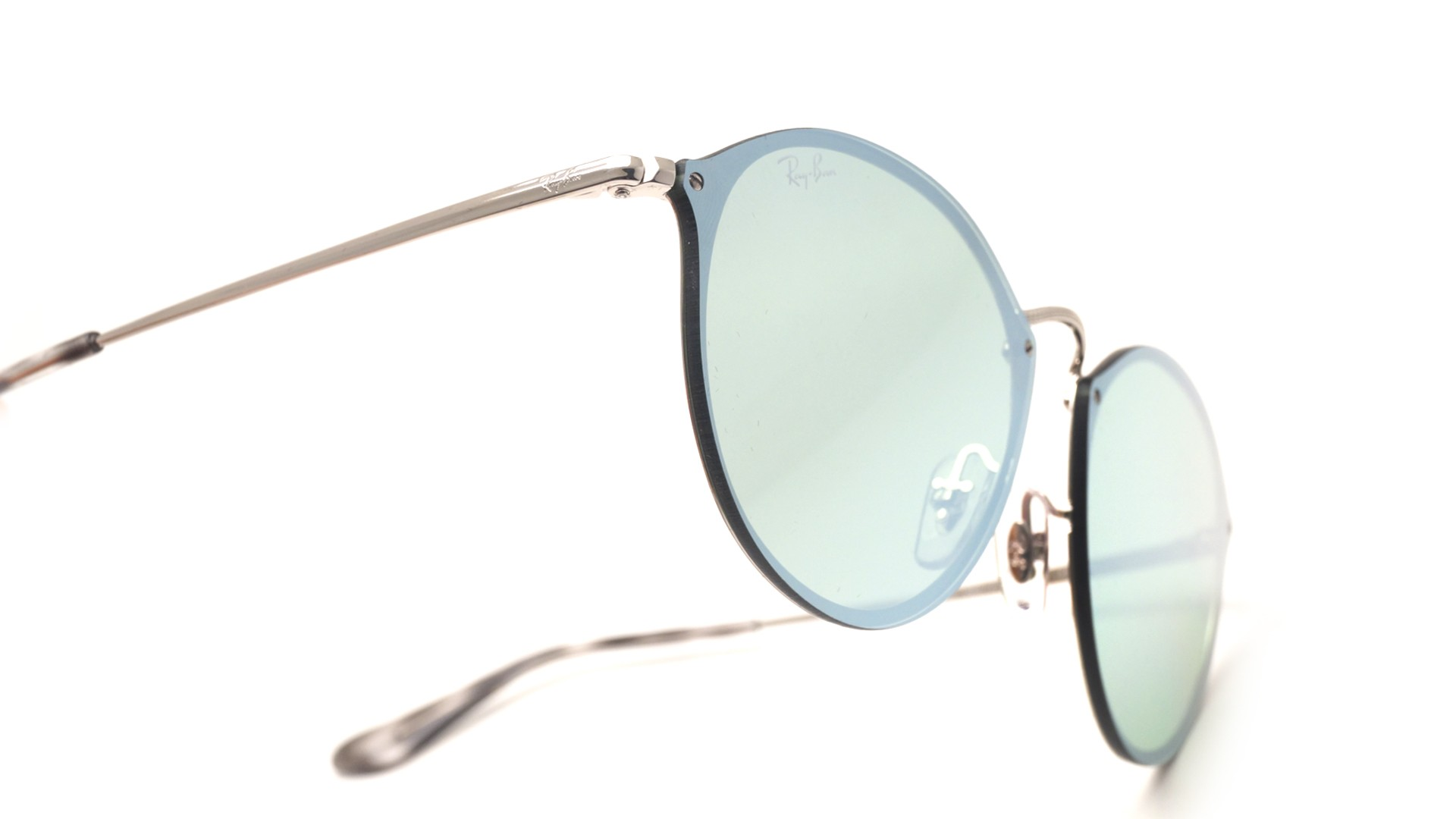 Sunglasses Ray-Ban Round Blaze Silver RB3574N 003 30 59-14 Large Mirror b3154be182