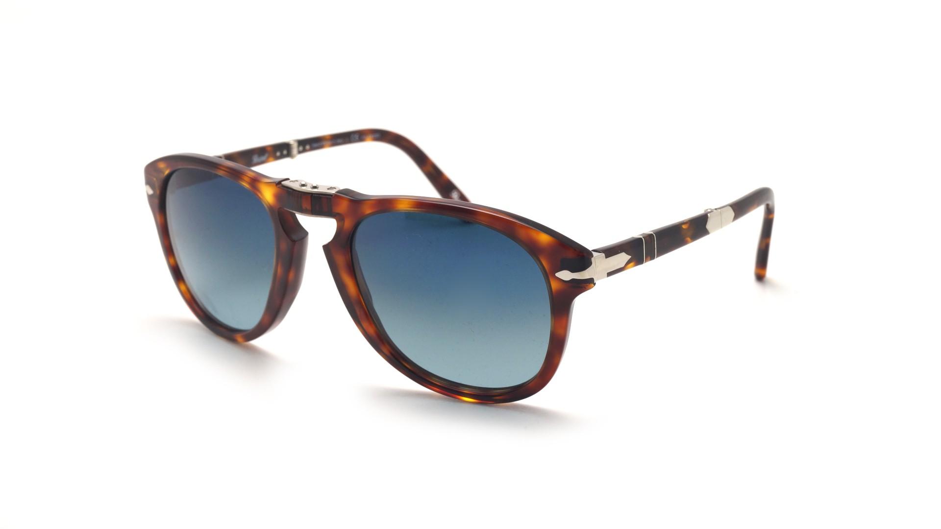 56eb8bc74f57 Sunglasses Persol Steve Mcqueen Tortoise PO0714SM 24/S3 52-21 Medium  Folding Polarized Gradient