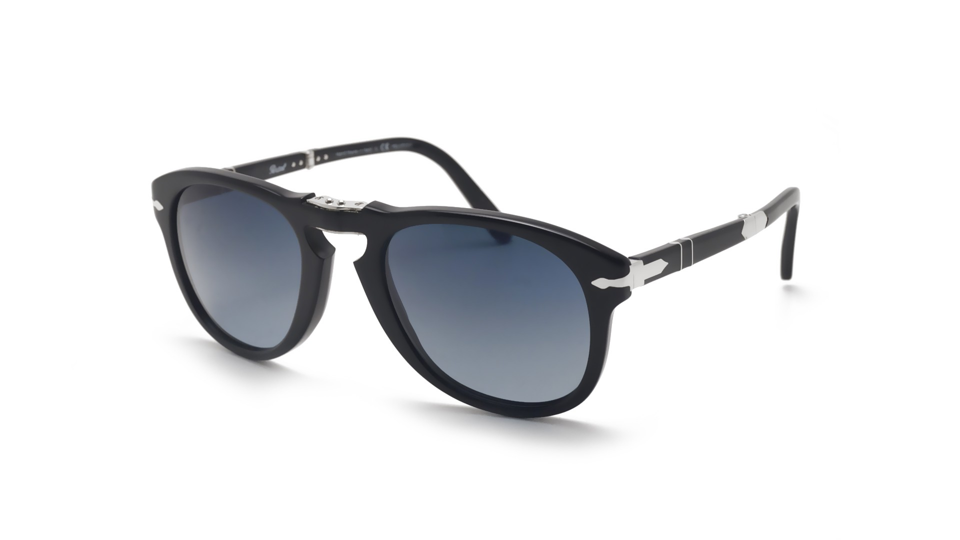 b5701e1542c Sunglasses Persol Steve Mcqueen Black PO0714SM 95 S3 52-21 Medium Folding  Polarized Gradient