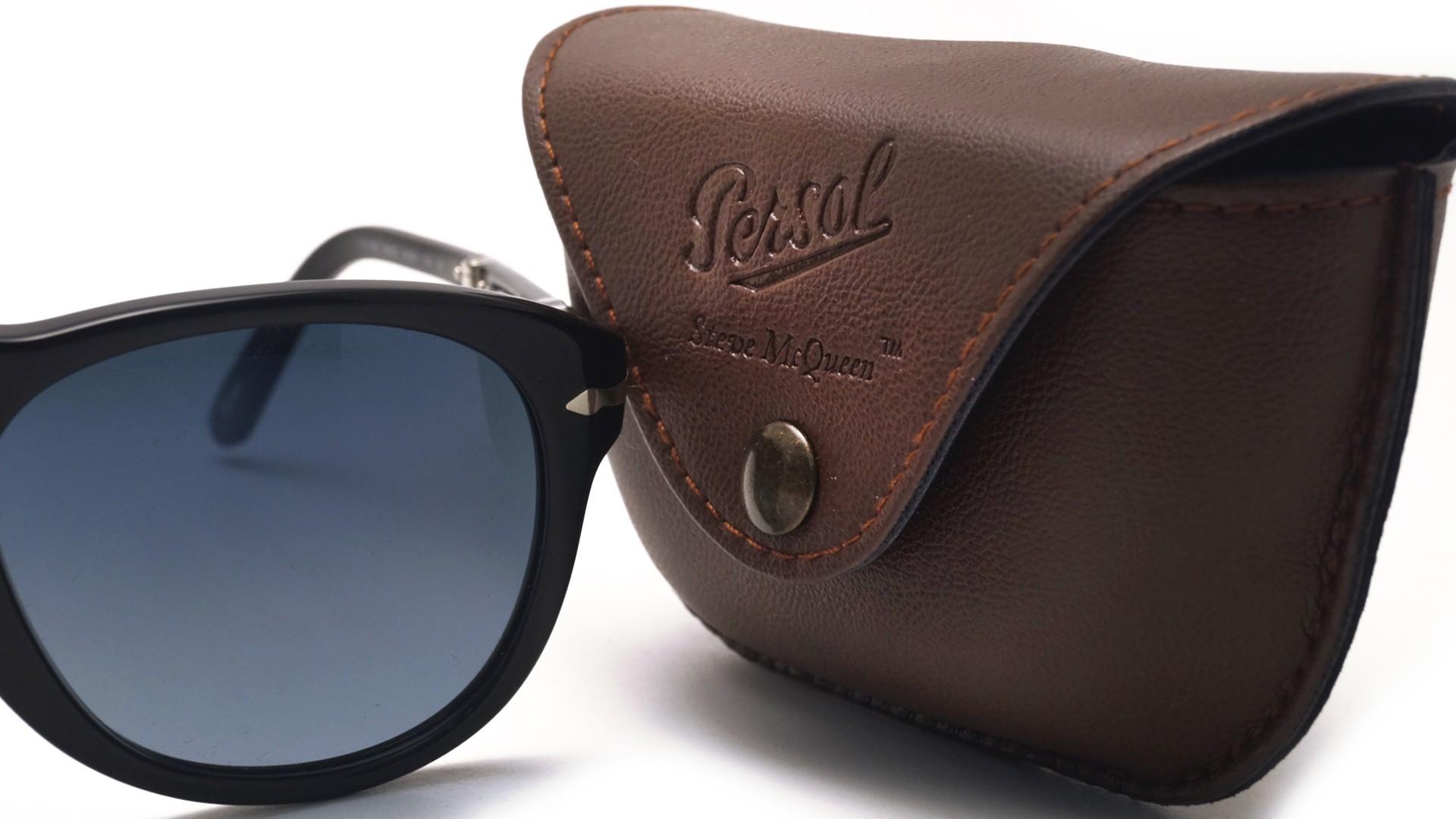 Sunglasses Persol Steve Mcqueen Black PO0714SM 95 S3 54-21 Large Folding  Polarized Gradient a91478c48e32
