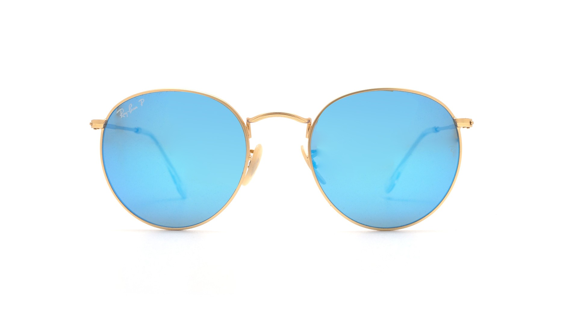 a1a13105c8 Sunglasses Ray-Ban Round Metal Gold Flash Lenses Matte RB3447 112 4L 53-21  Large Polarized Mirror