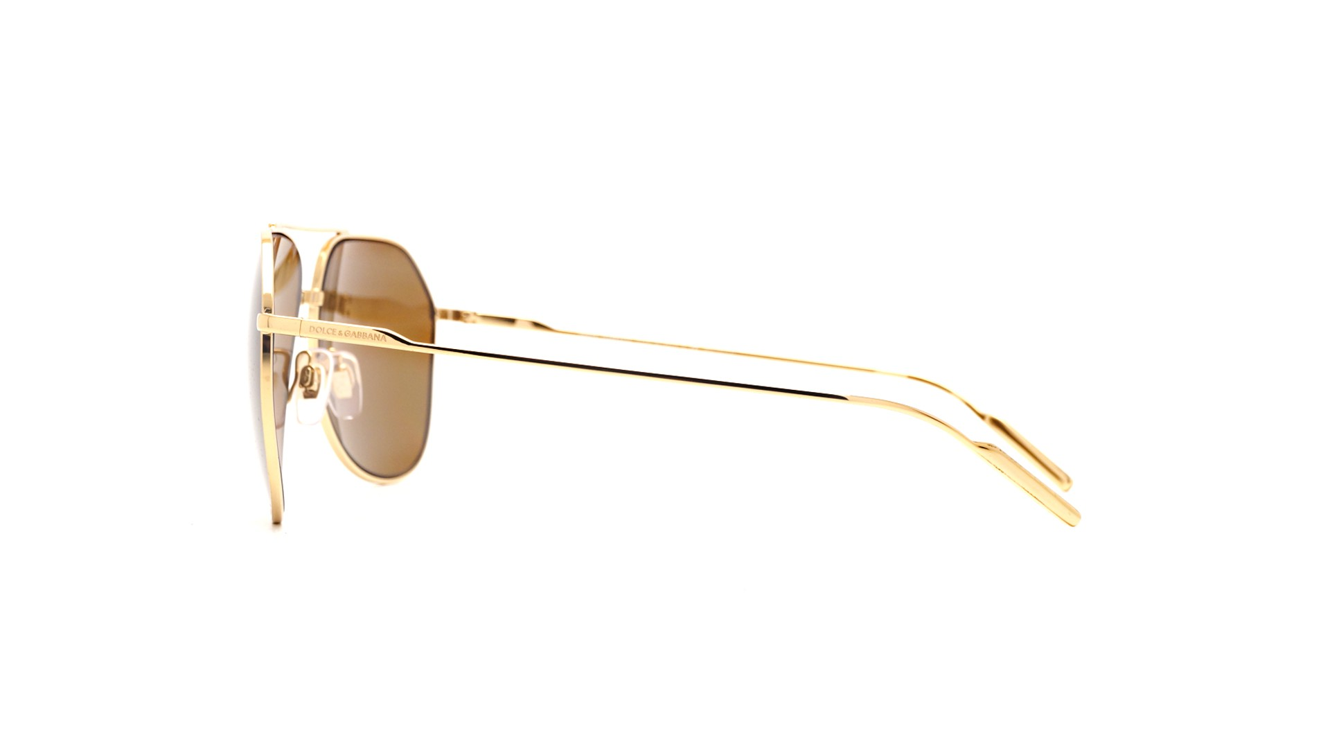 Sunglasses Dolce   Gabbana DG2166 02 83 61-14 Gold Large Polarized f2a225eb9a17