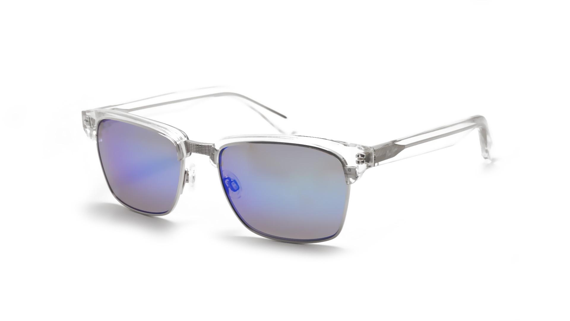 59c7f6d9ebd Sunglasses Maui Jim Kawika Clear B257 05CR 54-18 Medium Polarized Mirror