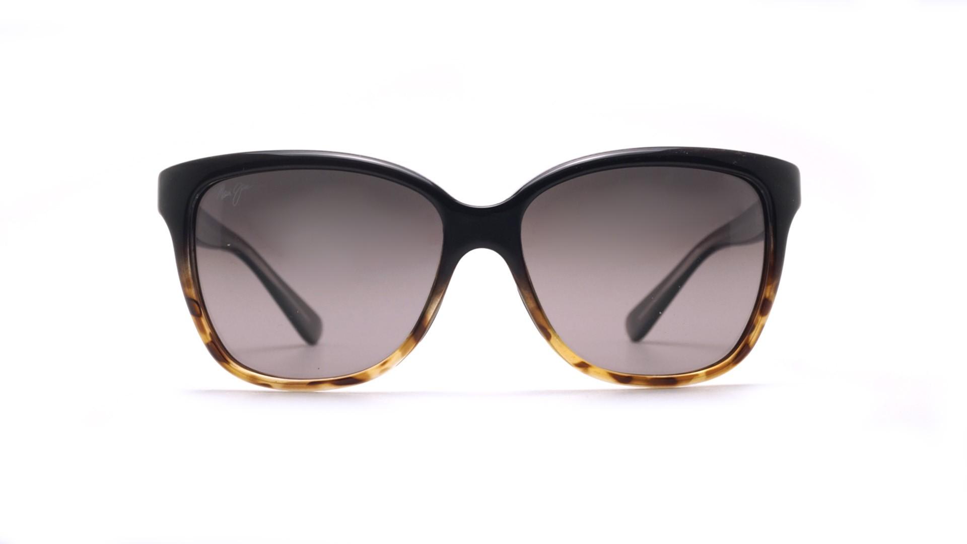 c4582a4eb15 Sunglasses Maui Jim Starfish Black Neutral Grey GS744 02T 56-15 Medium  Polarized Gradient
