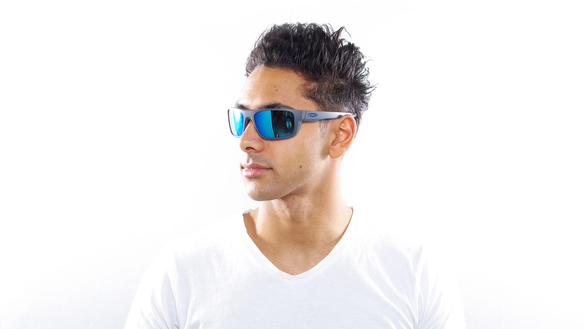 174cd7ef4b0aa Sunglasses Oakley Drop Point Grey Mat Prizm OO9367 06 61-18 Large Polarized  Flash