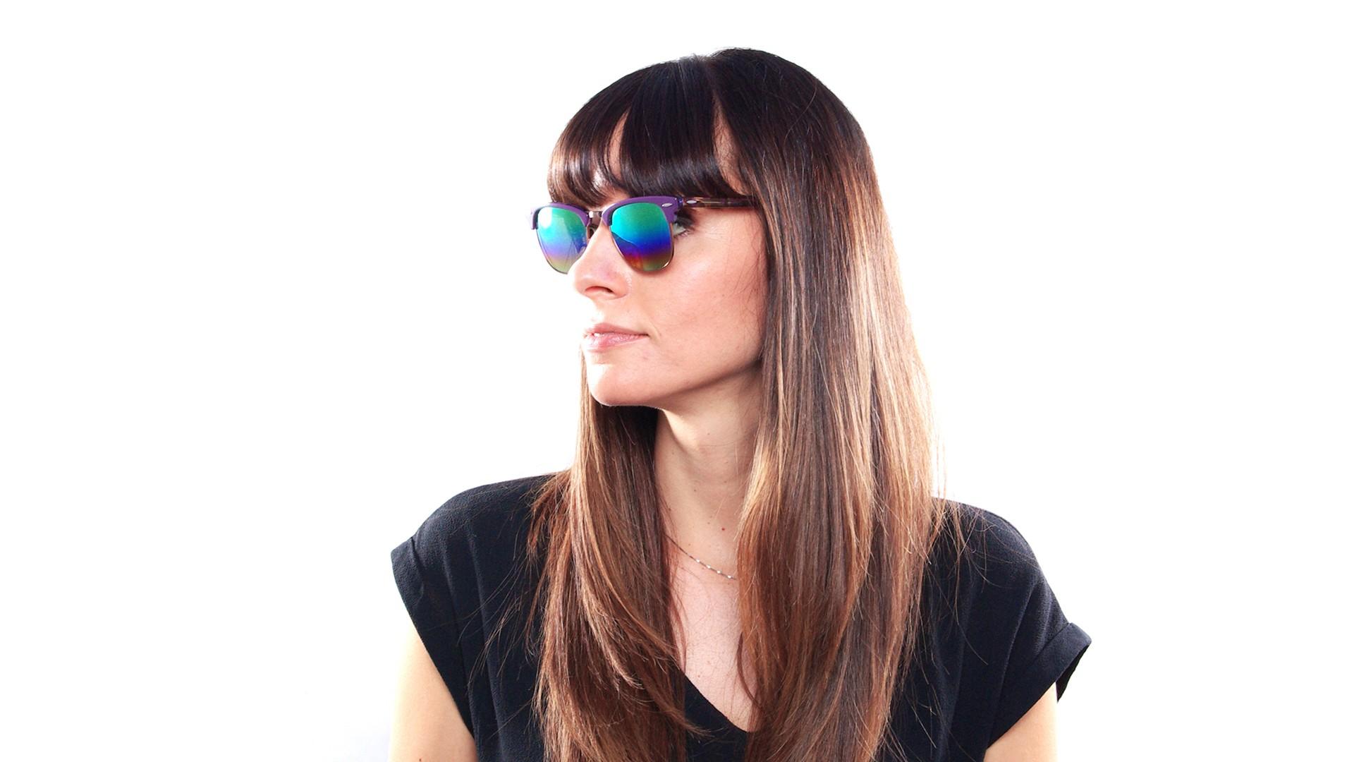 a65e6d03373 ... new zealand sunglasses ray ban clubmaster purple rb3016 1221 c3 49 21  small gradient mirror 2e433