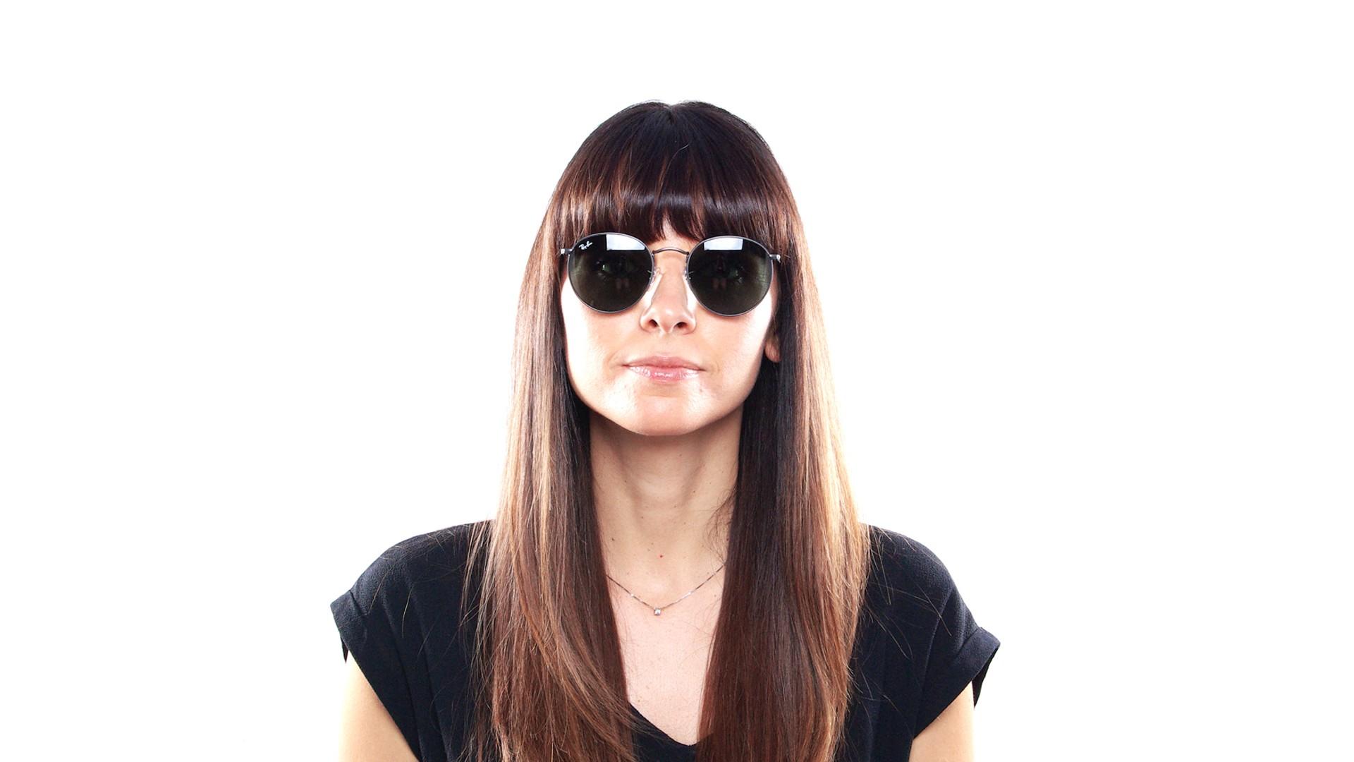 fada22f64f Sunglasses Ray-Ban Round Metal Grey Matte G-15 RB3447 029 53-21 Large