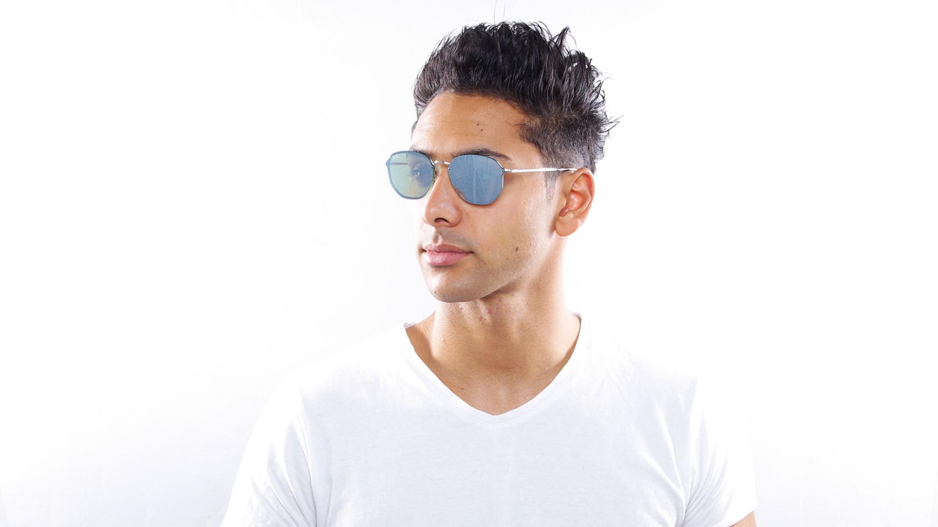 1fac65300d Sunglasses Ray-Ban Hexagonal Blaze Silver RB3579N 003 30 58-15 Large Mirror
