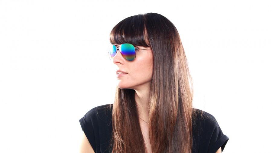 5f676e7d9e Sunglasses Ray-Ban Aviator Large Metal Rainbow Gold Mat RB3025 9018 C3 58-14  Large Gradient Flash