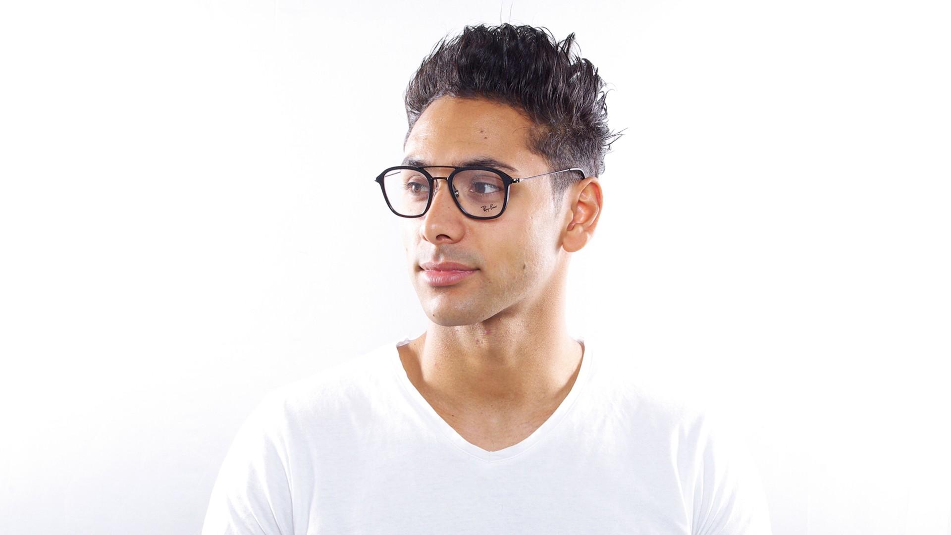 37e6782ce9b Eyeglasses Ray-Ban RX7098 RB7098 5725 50-21 Black Medium