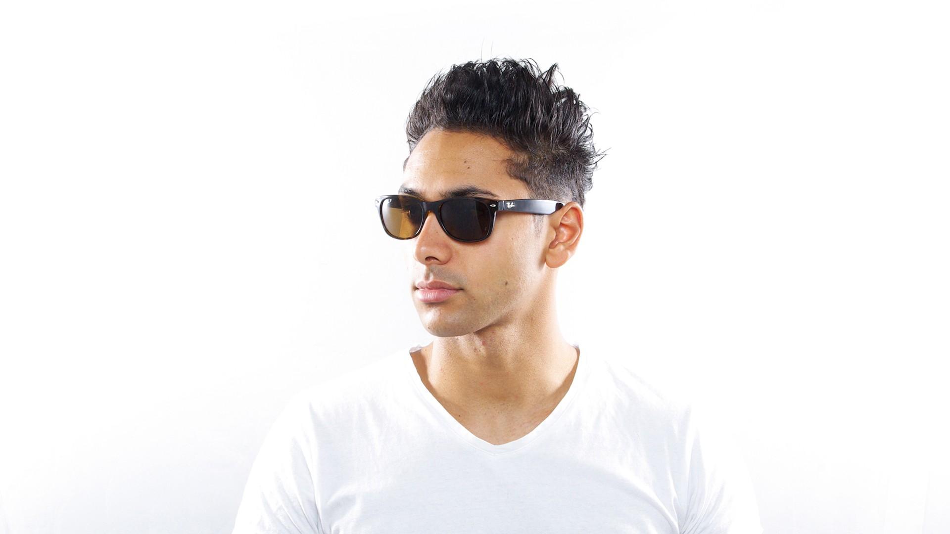 8e2b9312cc4 Sunglasses Ray-Ban New Wayfarer Tortoise RB2132 902 57 55-18 Large Polarized