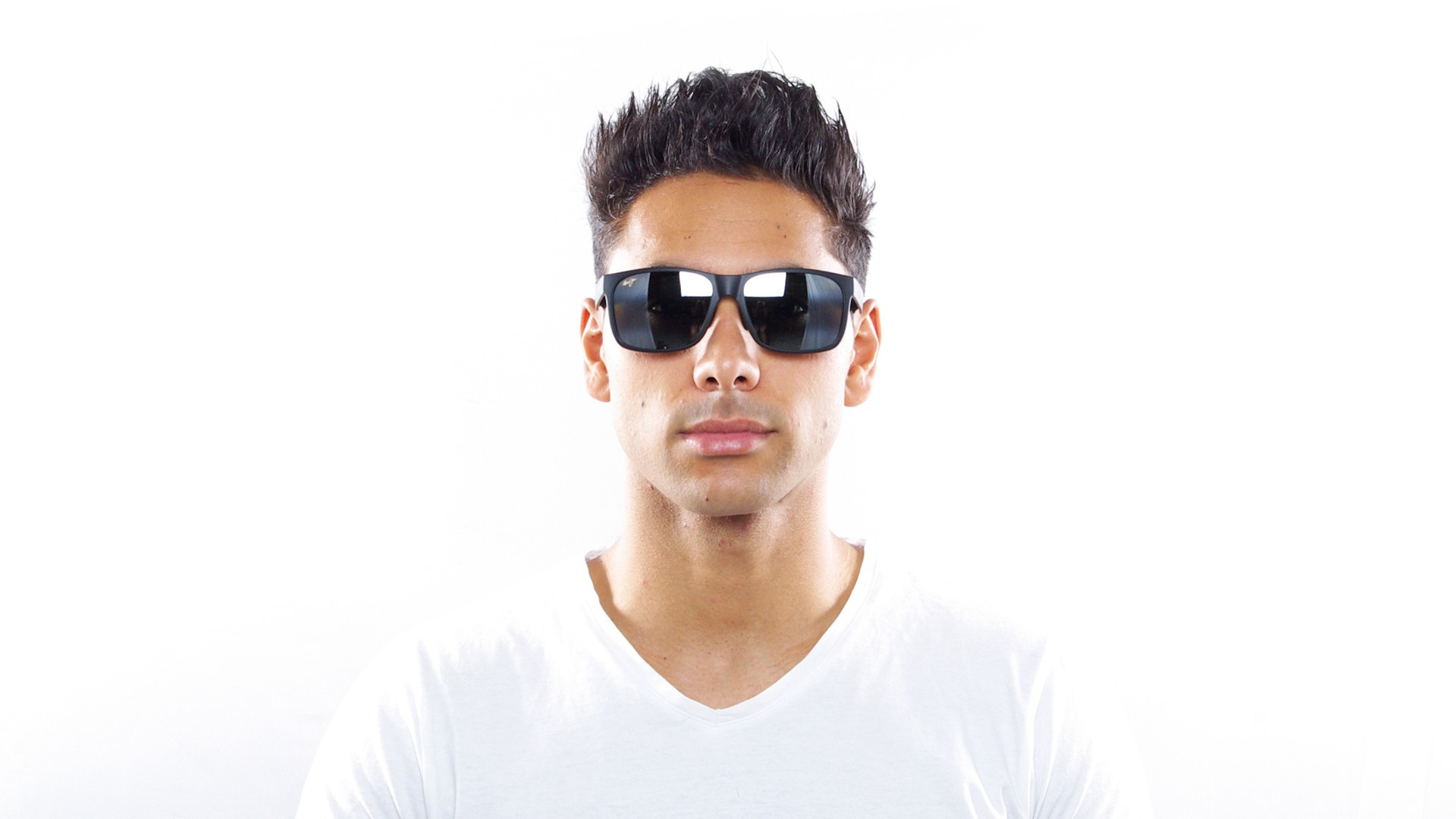 608042d19e56ea Sunglasses Maui Jim Red Sands Black Mat B432 2M 59-17 Large Polarized Flash