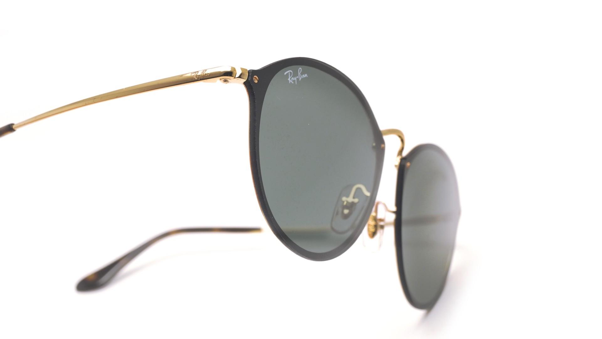 25a974e86c32e Sunglasses Ray-Ban Round Blaze Gold RB3574N 001 71 59-14 Large