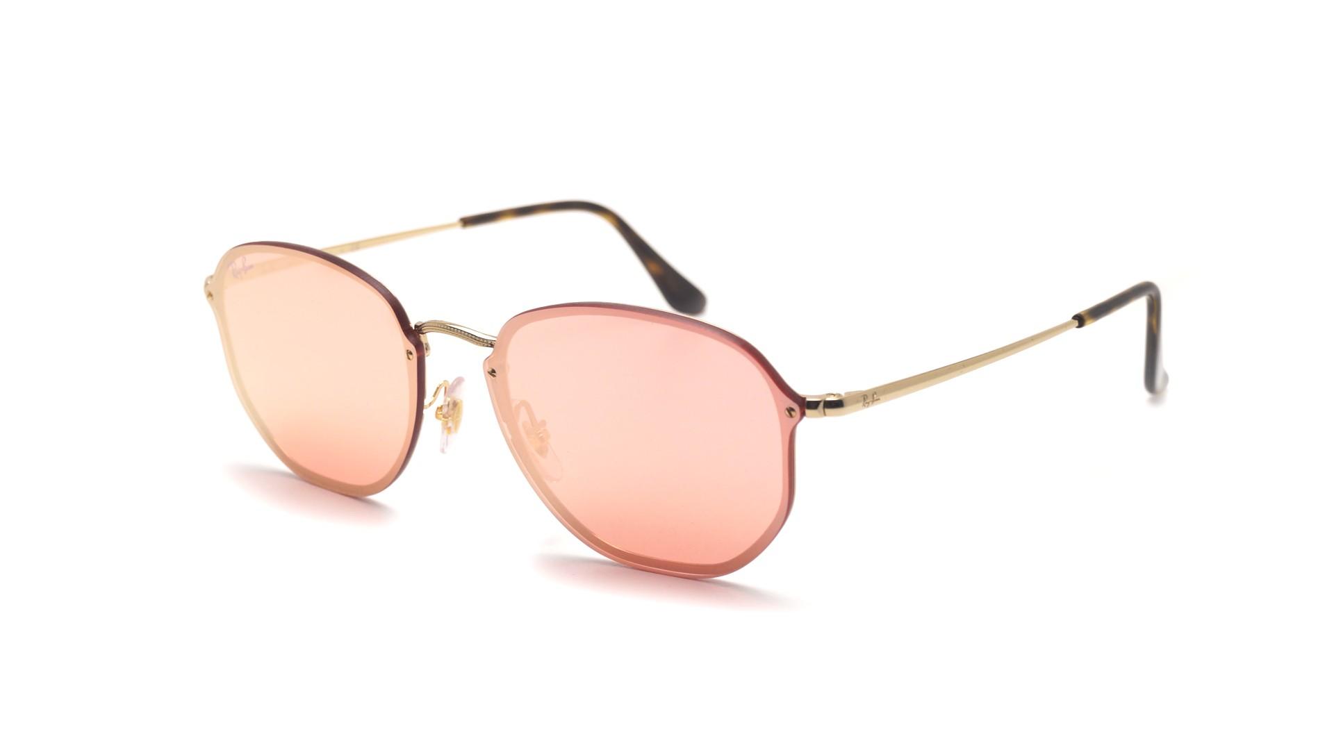 87d8676d91 Sunglasses Ray-Ban Hexagonal Blaze Gold RB3579N 001 E4 58-15 Large Mirror