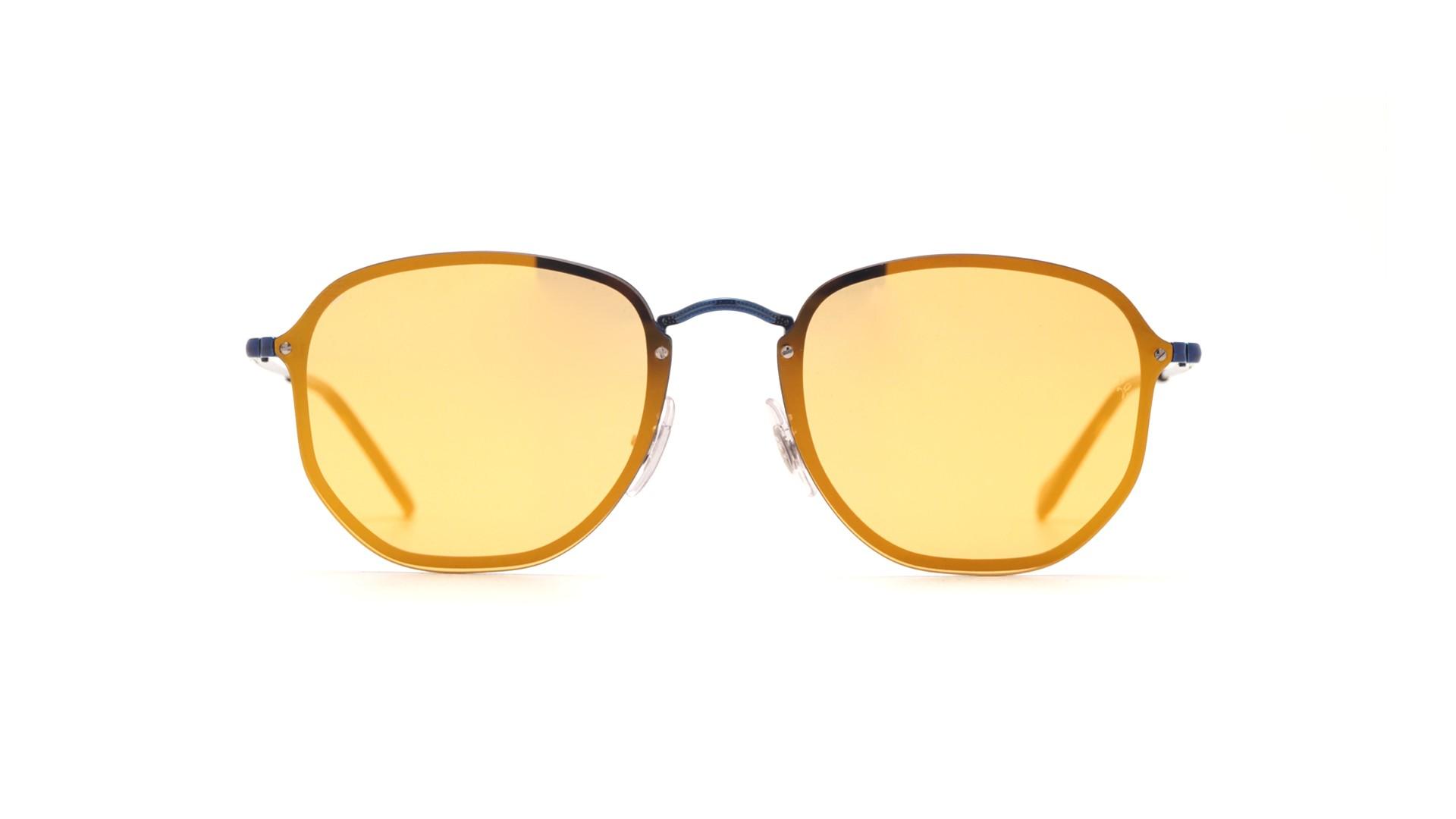cdd61724479 Sunglasses Ray-Ban Hexagonal Blaze Blue RB3579N 90387J 58-15 Large Mirror