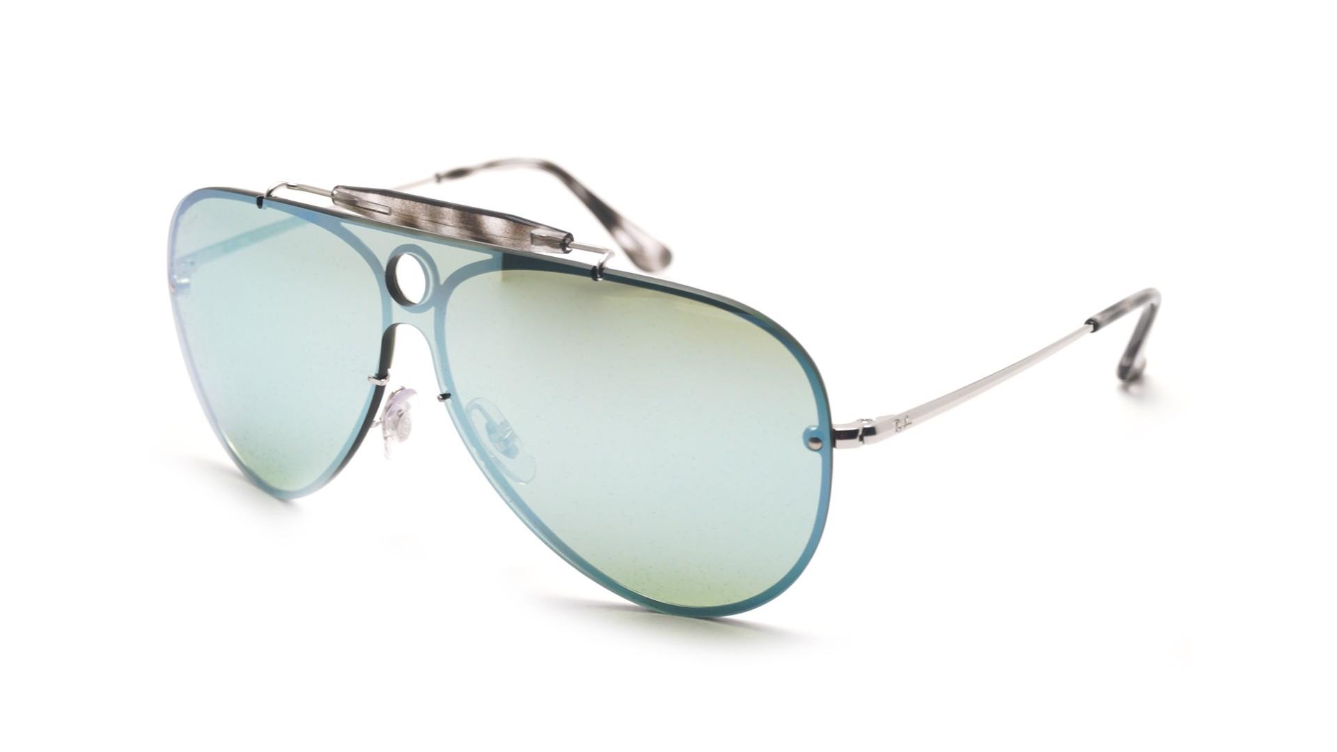 9b400c8c3e2b7 Sunglasses Ray-Ban Shooter Blaze Silver RB3581N 003 30 Large Mirror