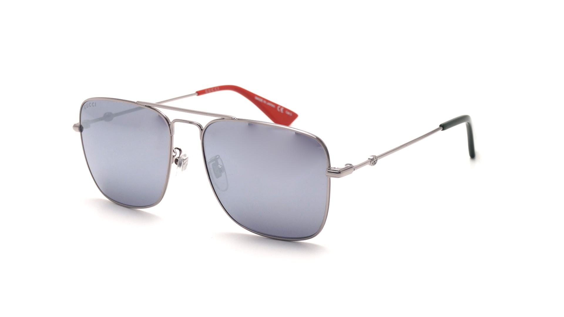 d3bf09fe5c2 Sunglasses Gucci GG0108S 005 55-16 Silver Large Mirror