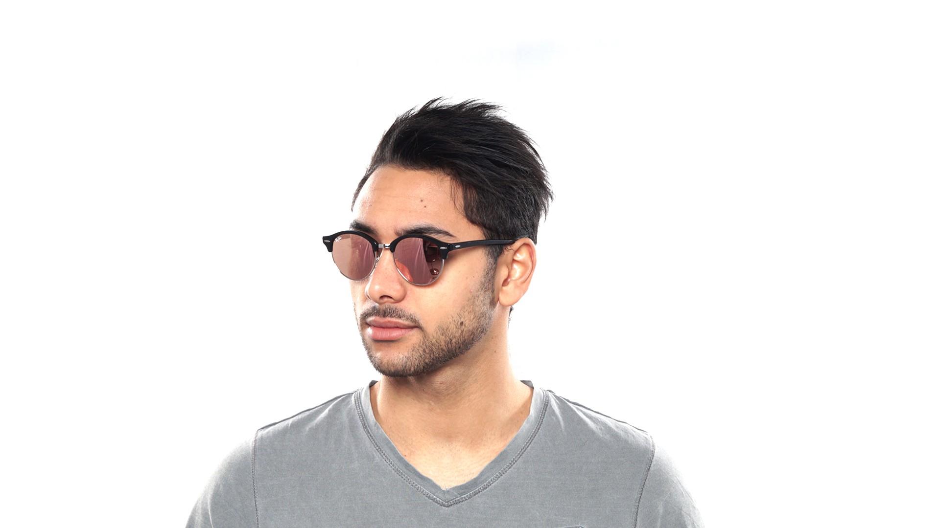 ff62e76b2be1 Sunglasses Ray-Ban Clubround Black Flash Lenses RB4246 1197Z2 51-19 Medium  Mirror