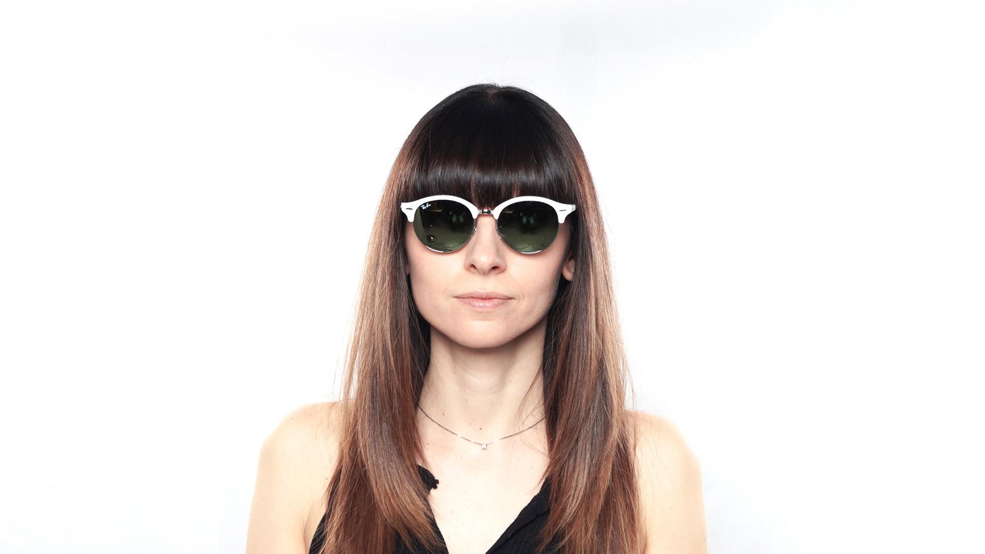 02c2fa1e45 Sunglasses Ray-Ban Clubround White Flash Lenses RB4246 988 2X 51-19 Medium  Mirror