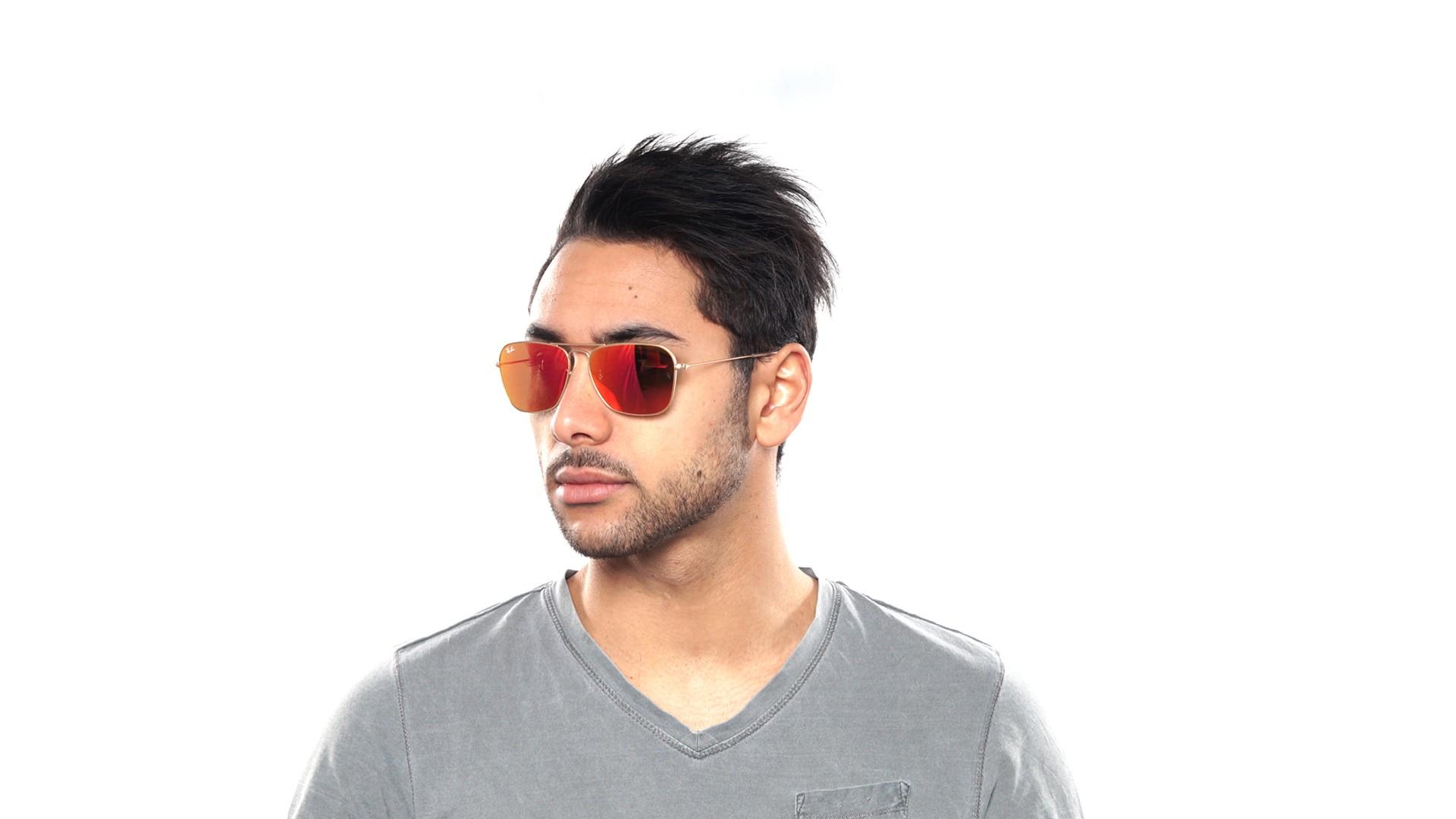 c951362361 Sunglasses Ray-Ban Caravan Gold Flash Lenses RB3136 112 69 58-15 Large  Mirror