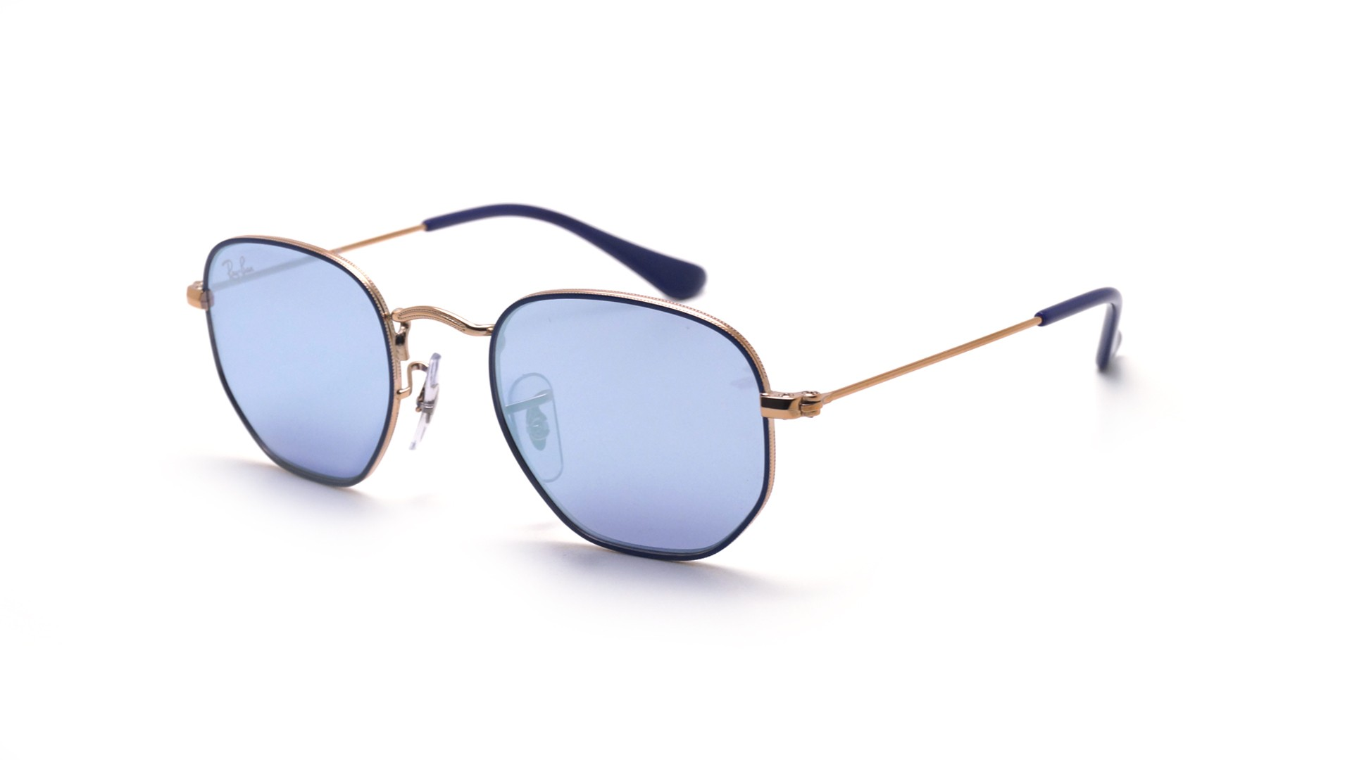 00f25e5befda3 Sunglasses Ray-Ban Hexagonal Flat Lenses Blue RJ9541SN 264 1U 44-19 Junior  Mirror