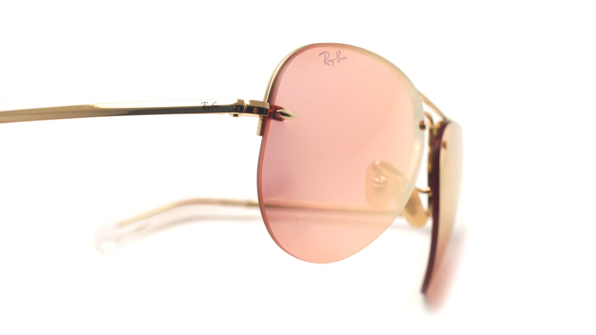 2d3429e4be1 Sunglasses Ray-Ban RB3449 001 E4 59-14 Gold Large Mirror
